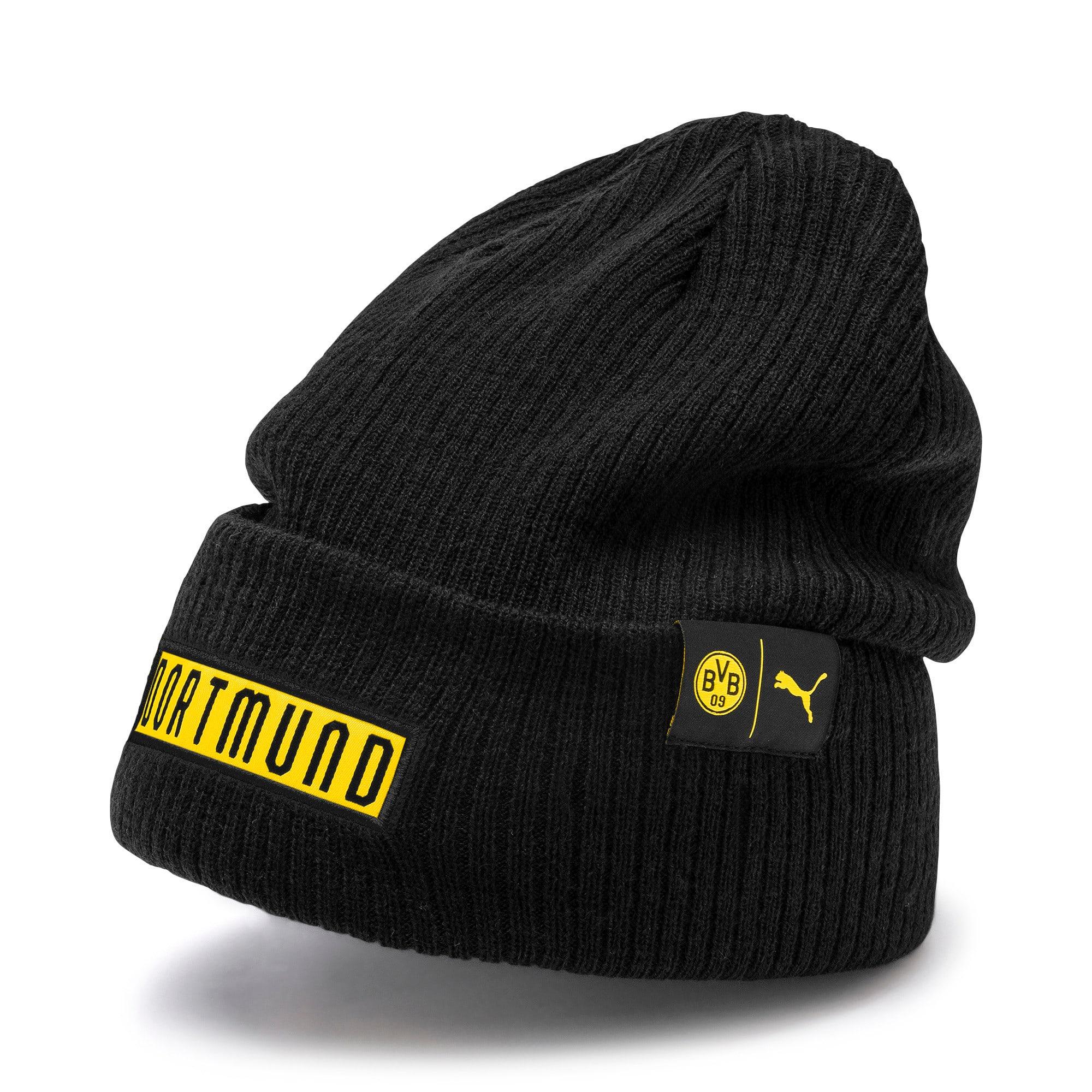 Thumbnail 1 of BVB Football Culture Bronx Beanie, Puma Black-Cyber Yellow, medium