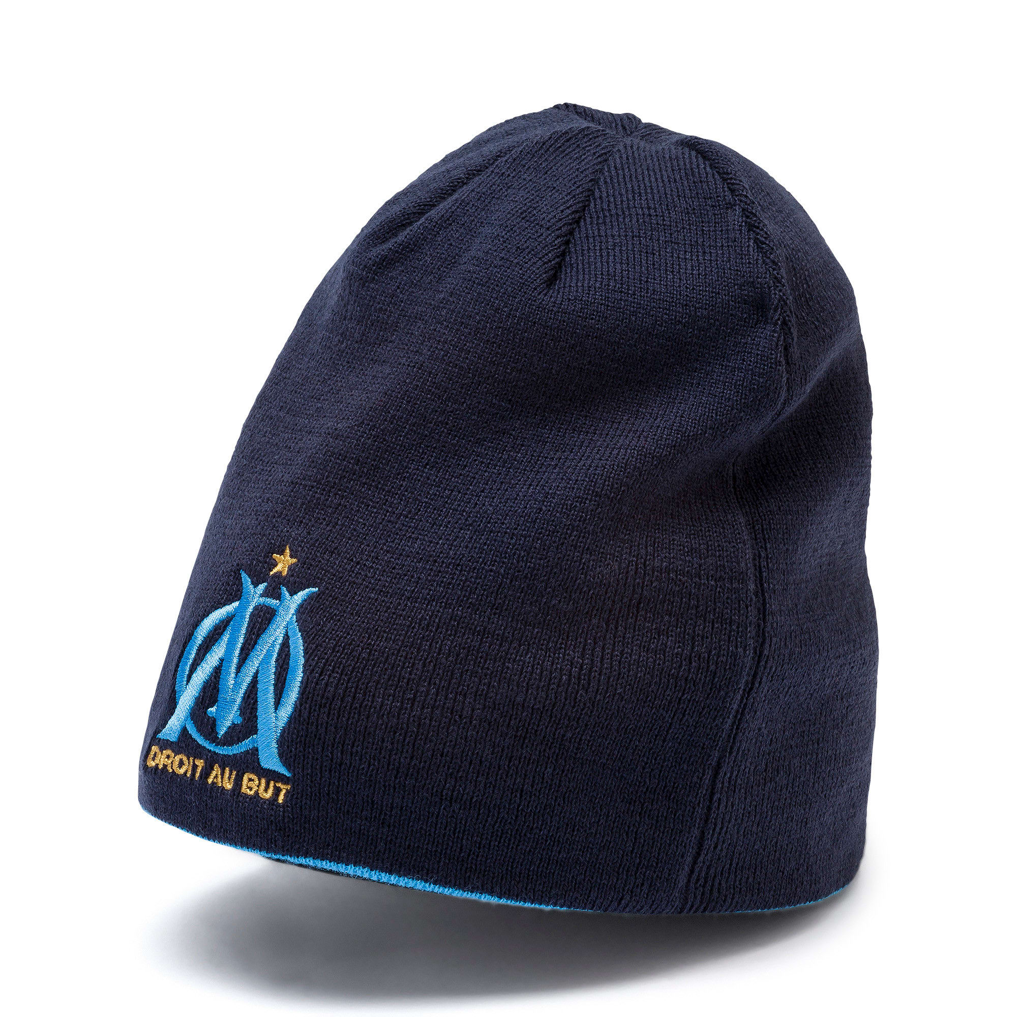 Thumbnail 1 of Bonnet réversible Olympique Marseille, Bleu Azur-Puma White, medium