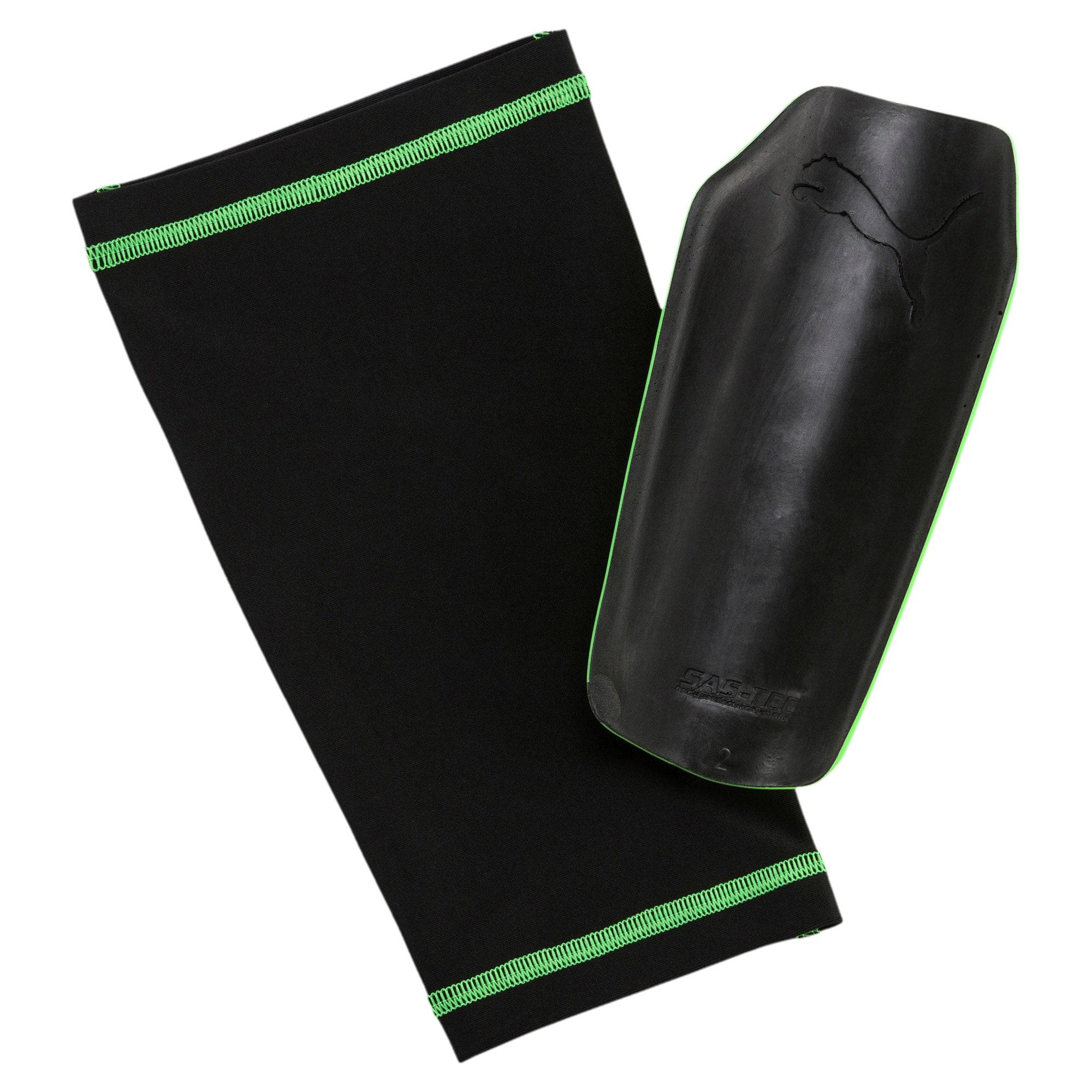 Thumbnail 2 of evoPOWER 1.3 Slip Shin Guards, Green Gecko-Black-White, medium