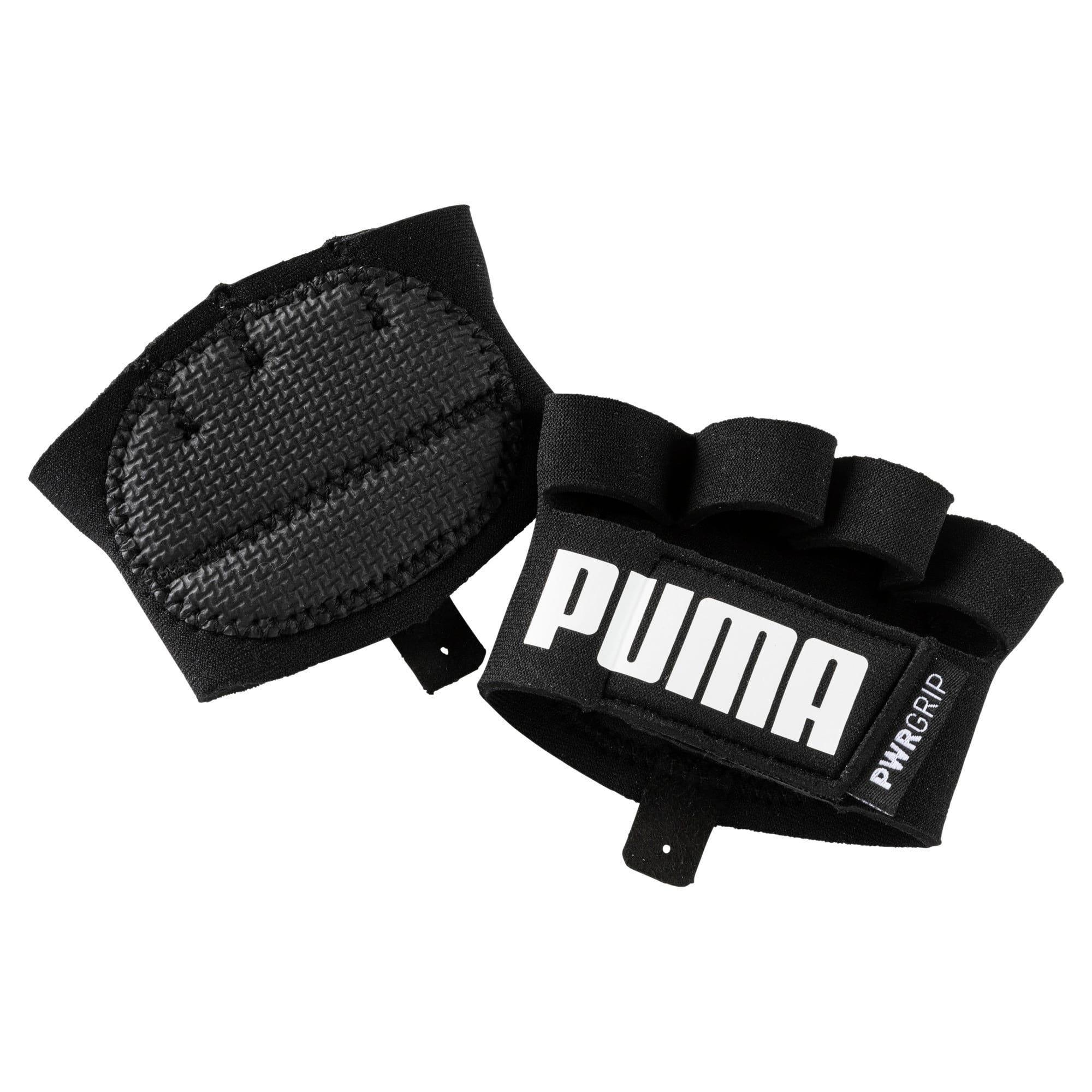 Thumbnail 1 of Essential Training Grip Gloves, Puma Black-Puma White, medium