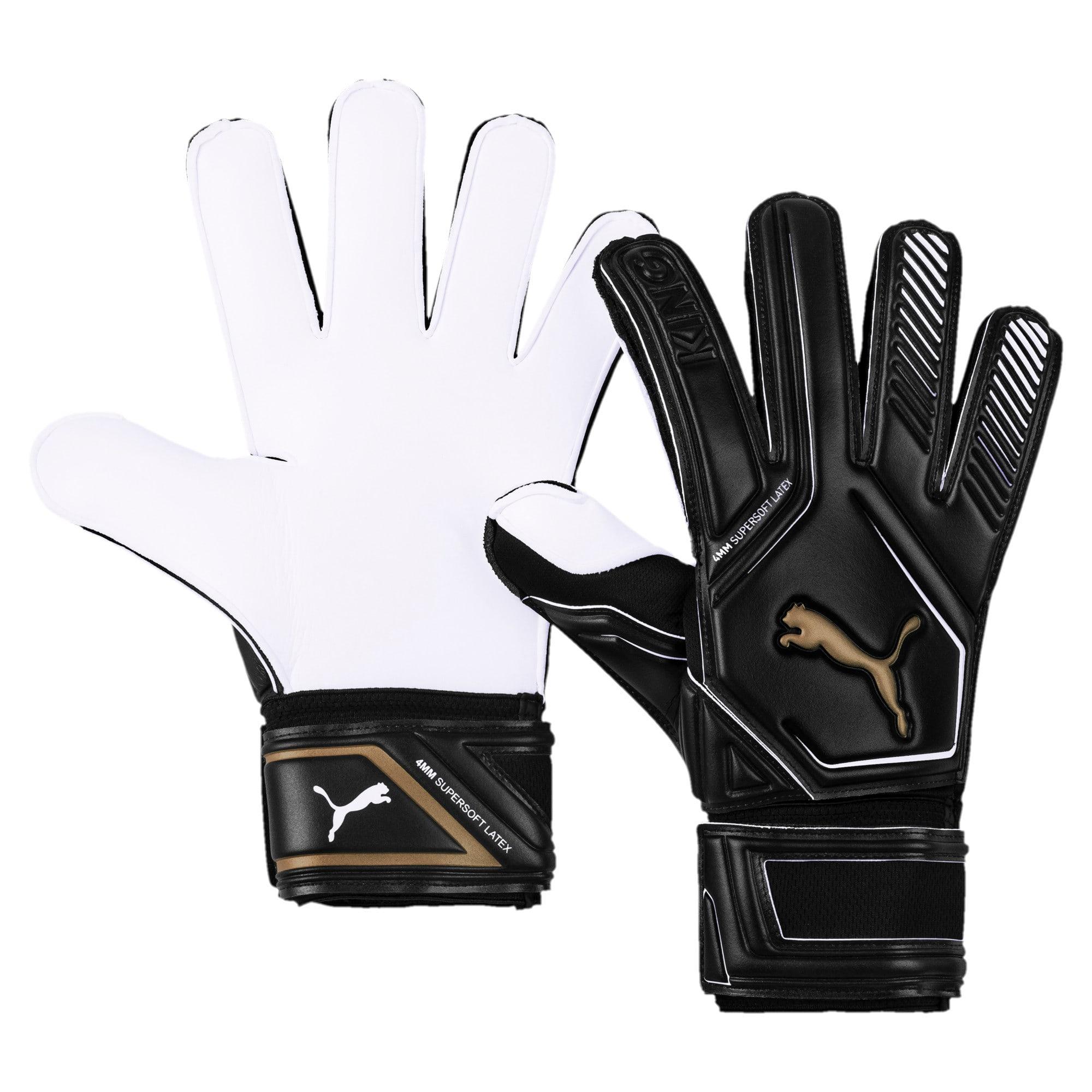 Thumbnail 1 of King RC Goalkeeper Gloves, Puma Black-Gold-Puma White, medium
