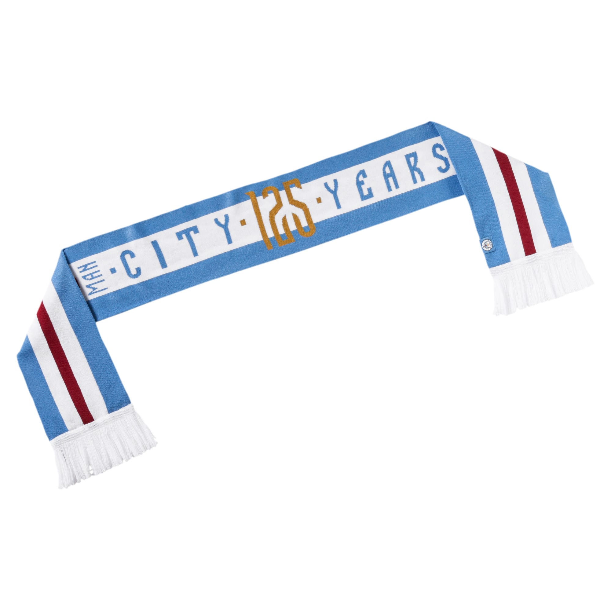 Thumbnail 1 of Man City 125th Anniversary Fan Scarf, Team Light Blue-Puma White, medium
