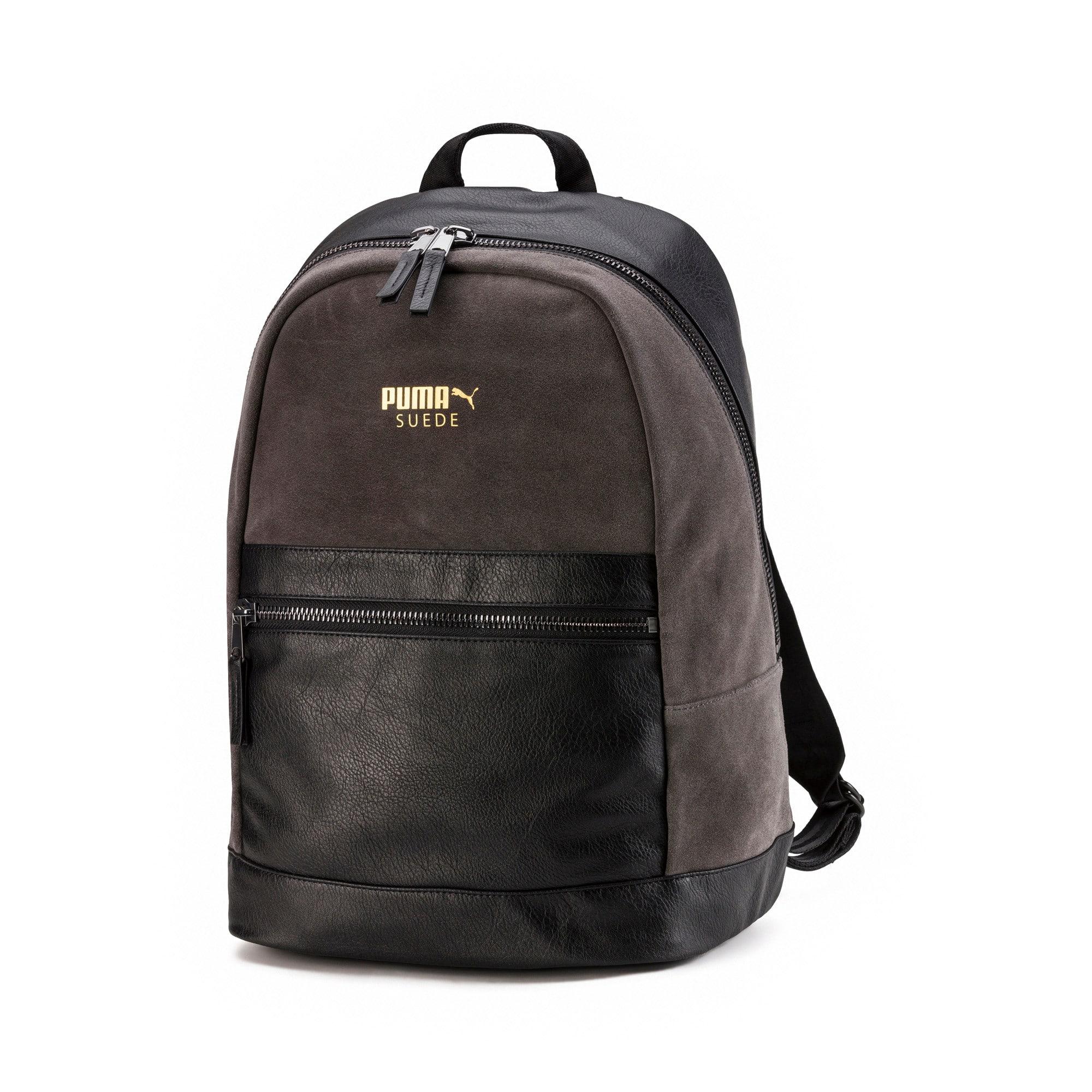 Thumbnail 1 of Suede Lux Backpack, Dark Shadow-Puma Black, medium