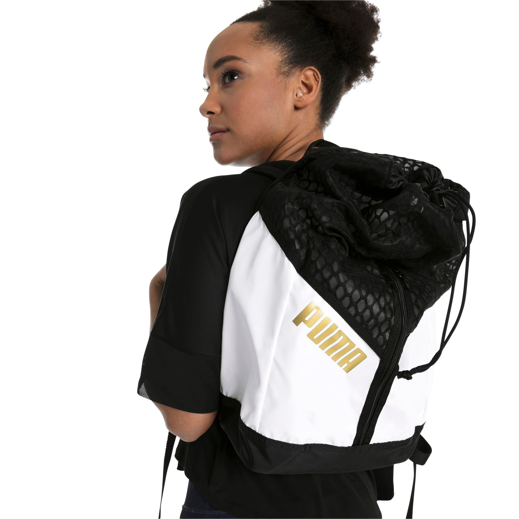 Thumbnail 4 of Ambition Gold Women's Backpack, Puma White-Puma Black, medium