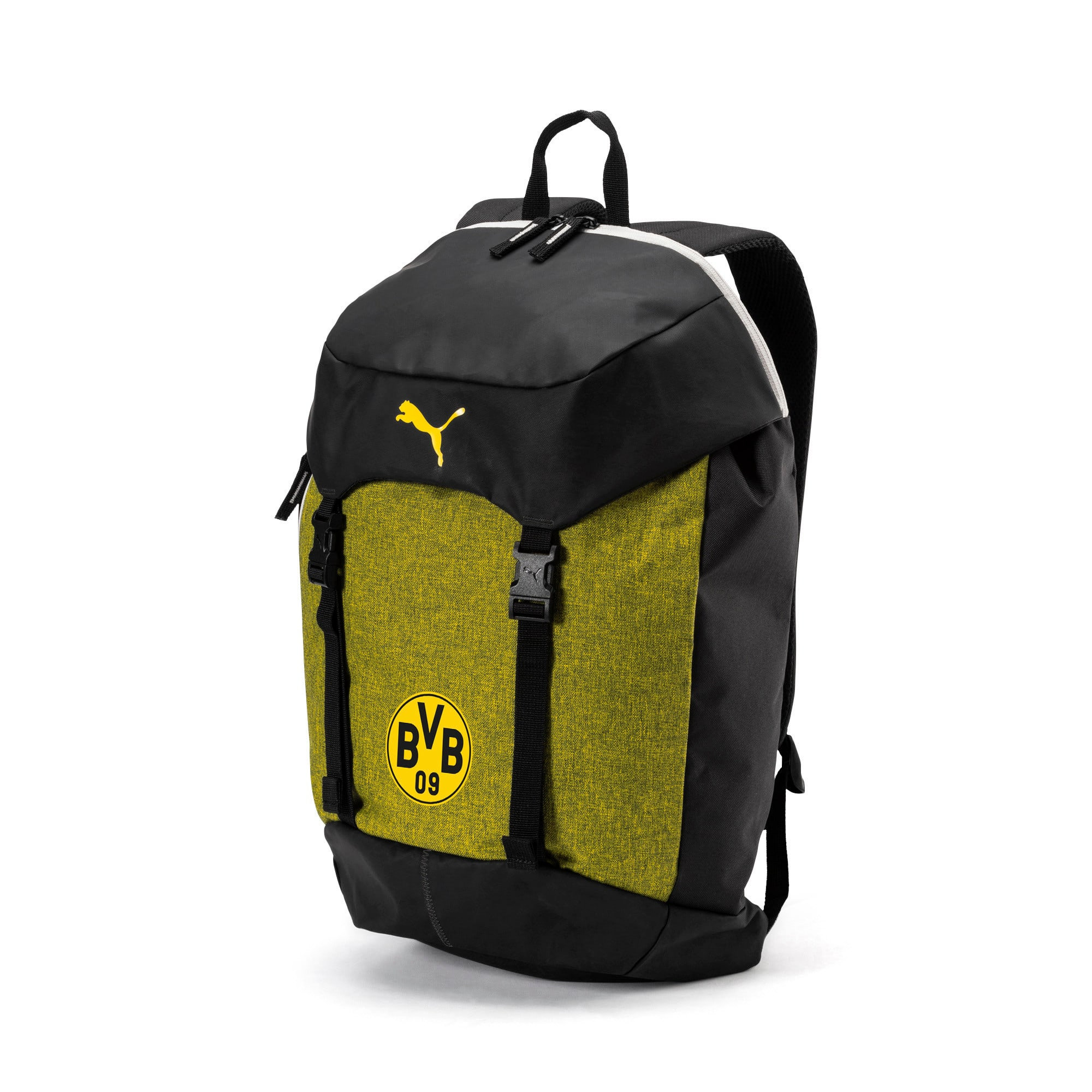 Thumbnail 1 of BVB 365 Backpack, Puma Black-Cyber Yellow, medium-IND