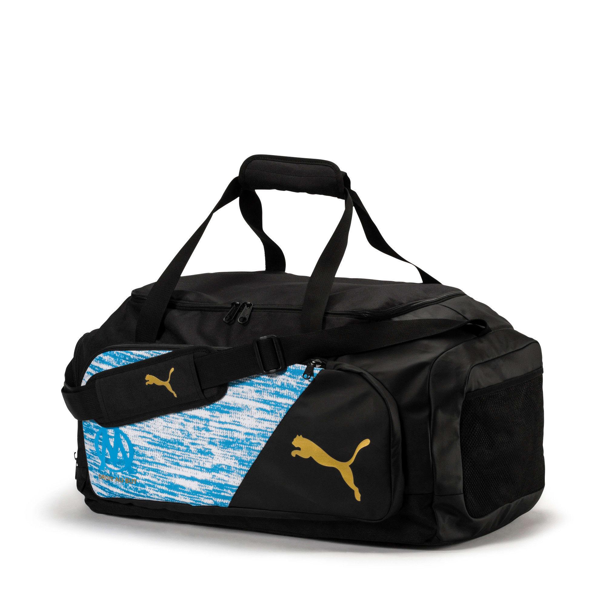 Thumbnail 1 of Olympique de Marseille LIGA Medium Bag, AZURE BLUE-Puma Black, medium