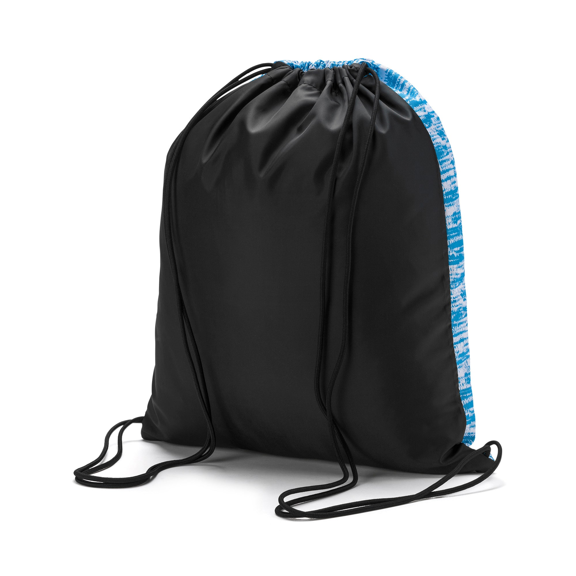 Thumbnail 2 of Olympique de Marseille LIGA Gym Bag, AZURE BLUE-Puma Black, medium