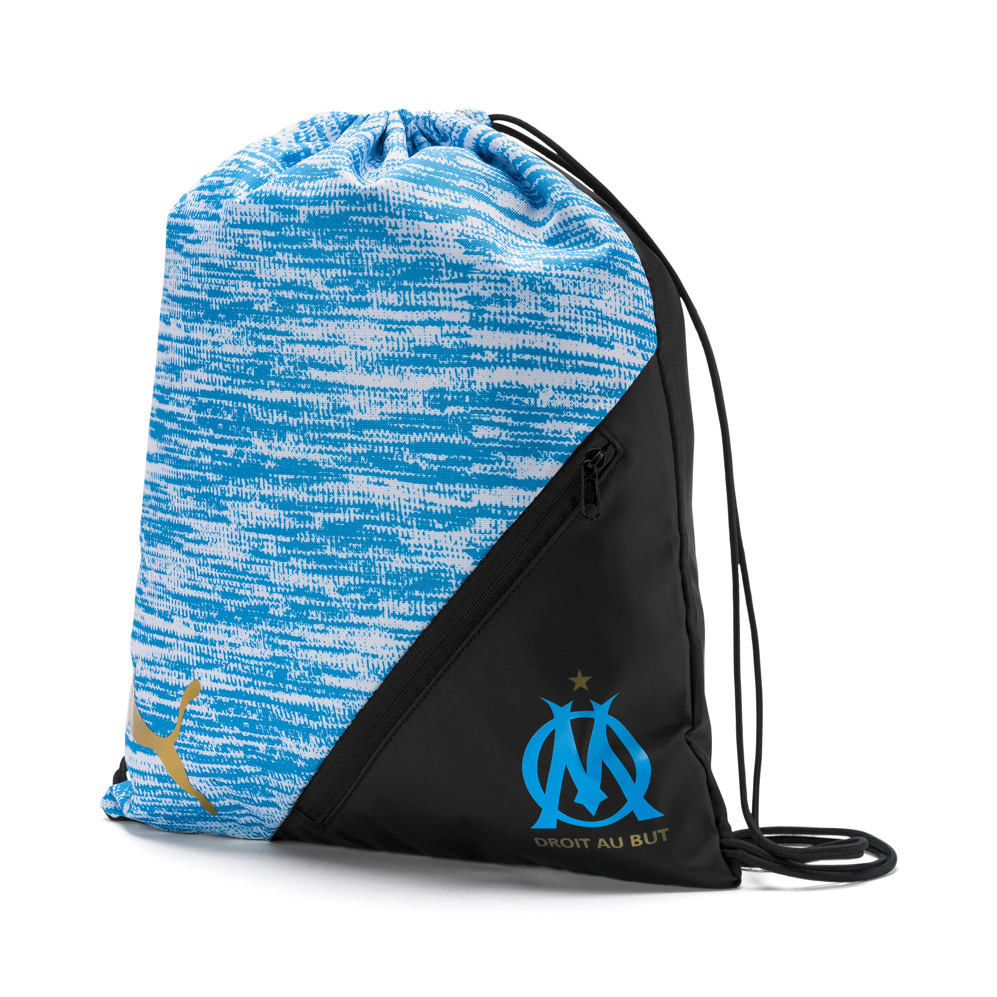 Thumbnail 1 of Olympique de Marseille LIGA Gym Bag, AZURE BLUE-Puma Black, medium