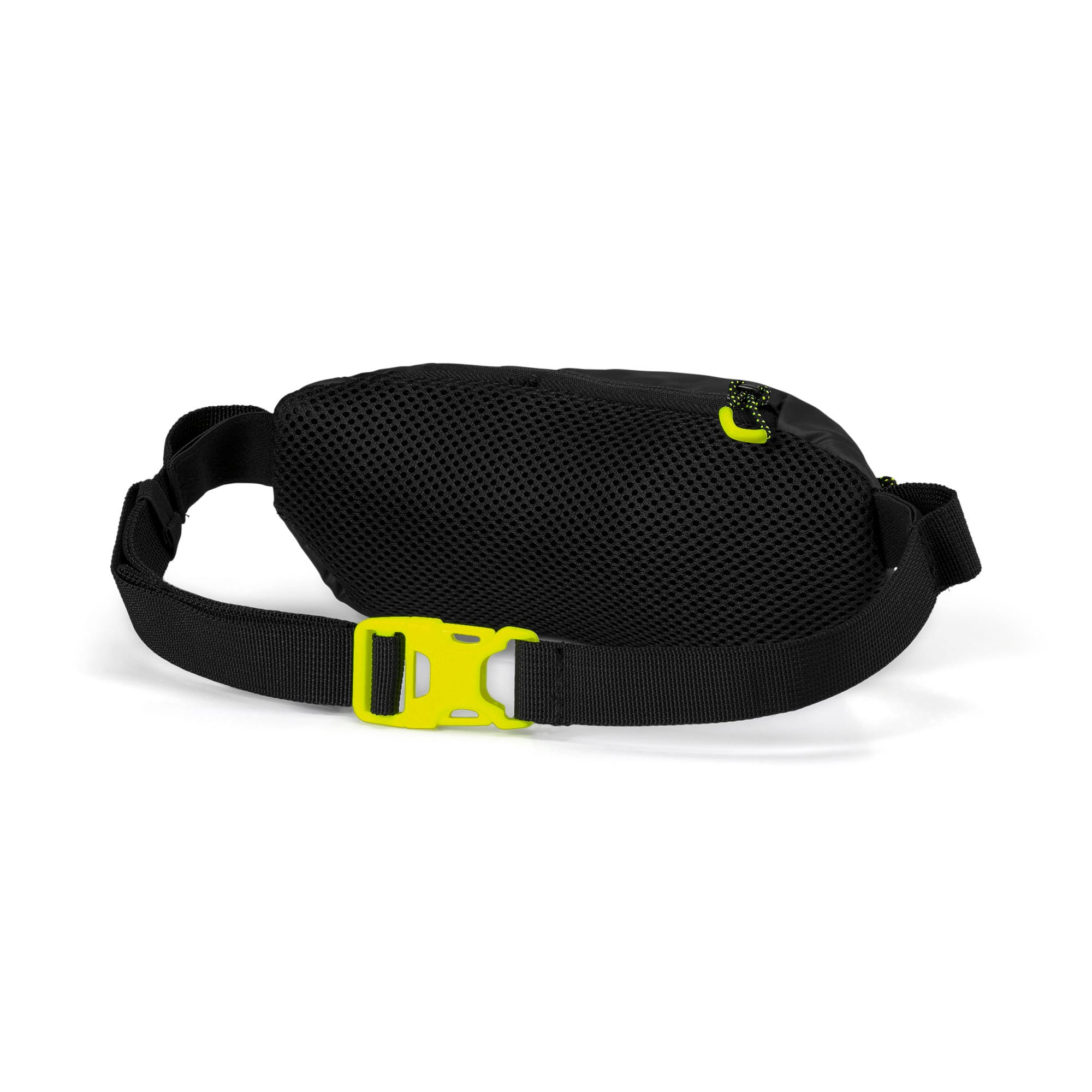 Thumbnail 2 of Classic Running Waist Bag, Puma Black-Yellow Alert, medium