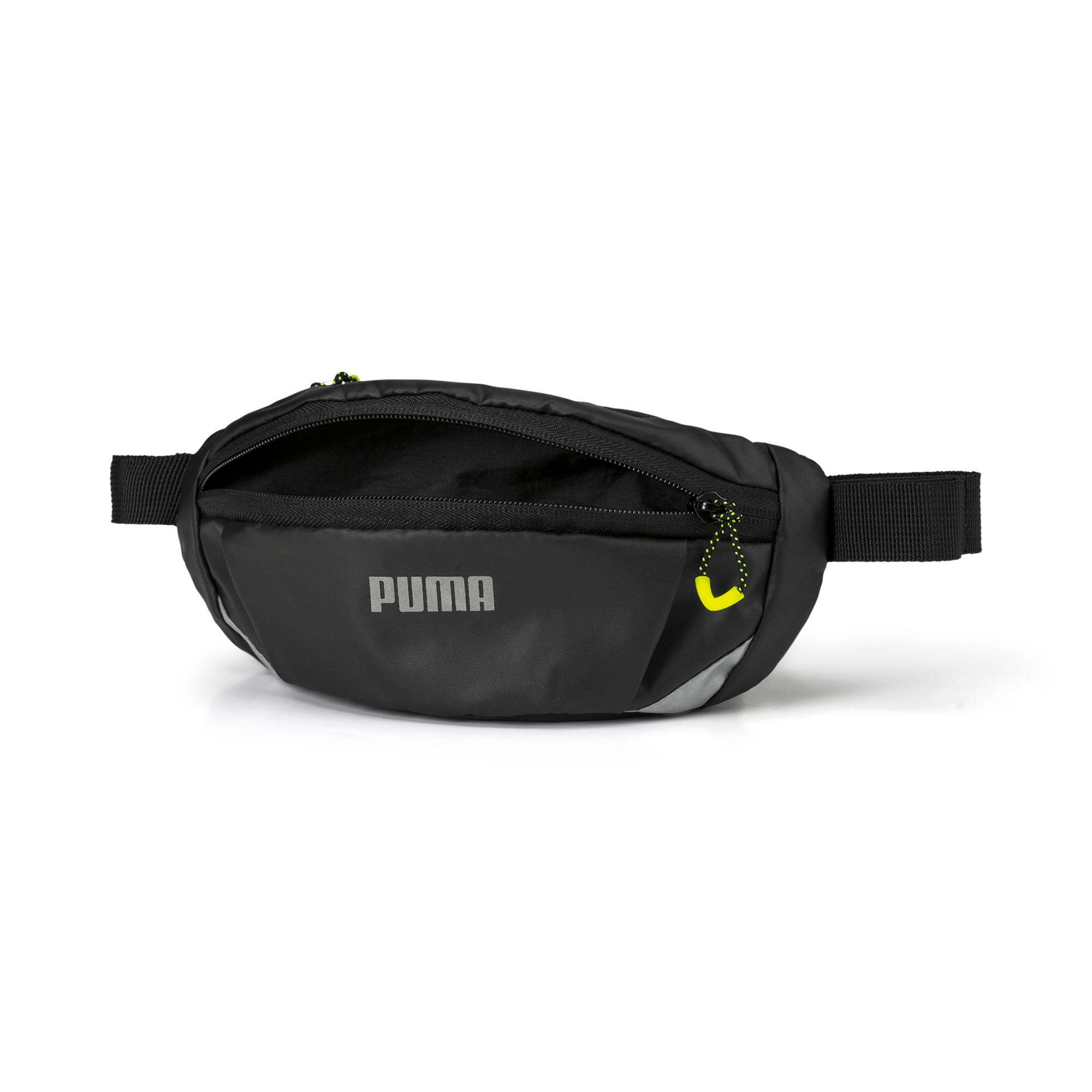 Thumbnail 3 of Classic Running Waist Bag, Puma Black-Yellow Alert, medium