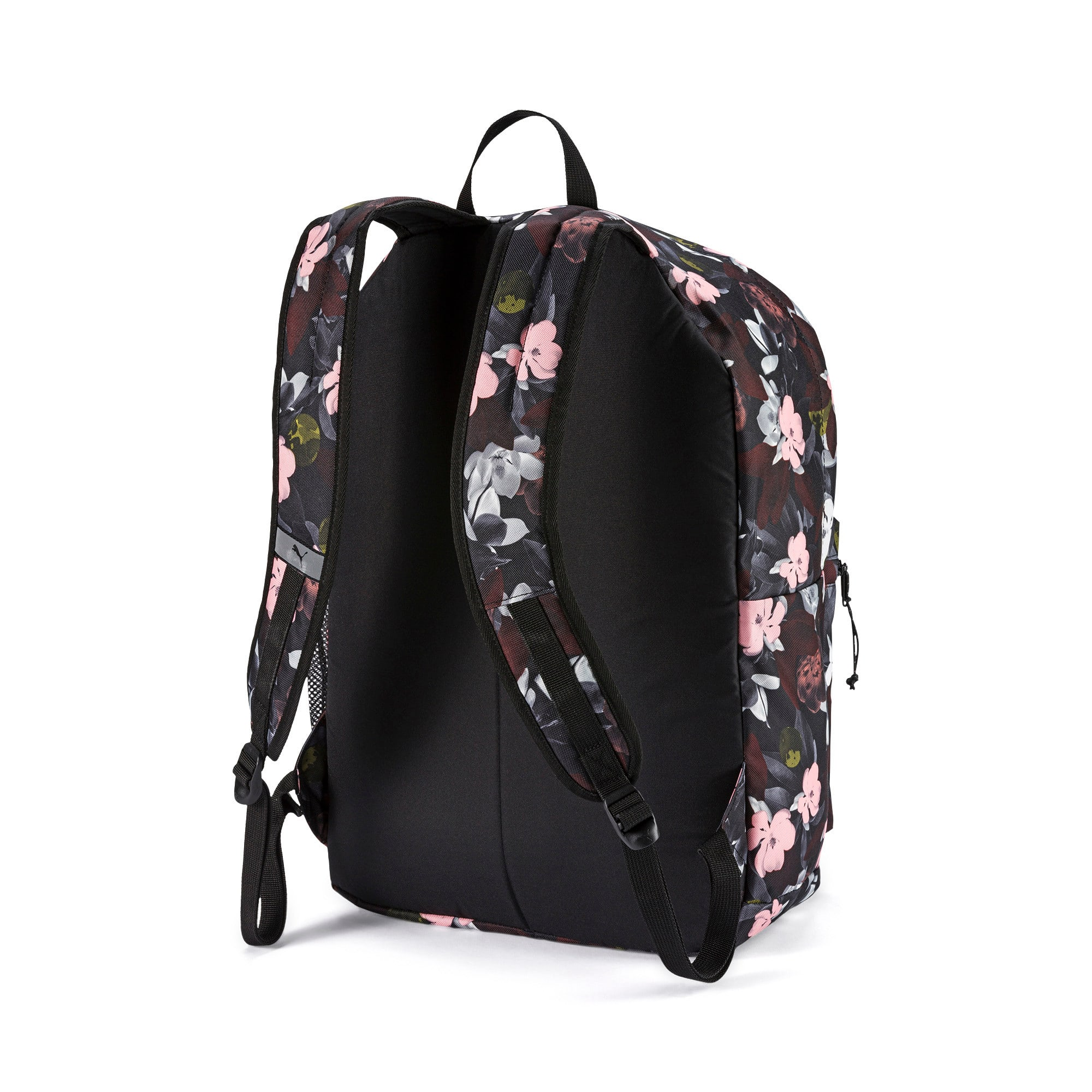 Thumbnail 2 of PUMA Academy Backpack, Puma Black-Floral AOP, medium