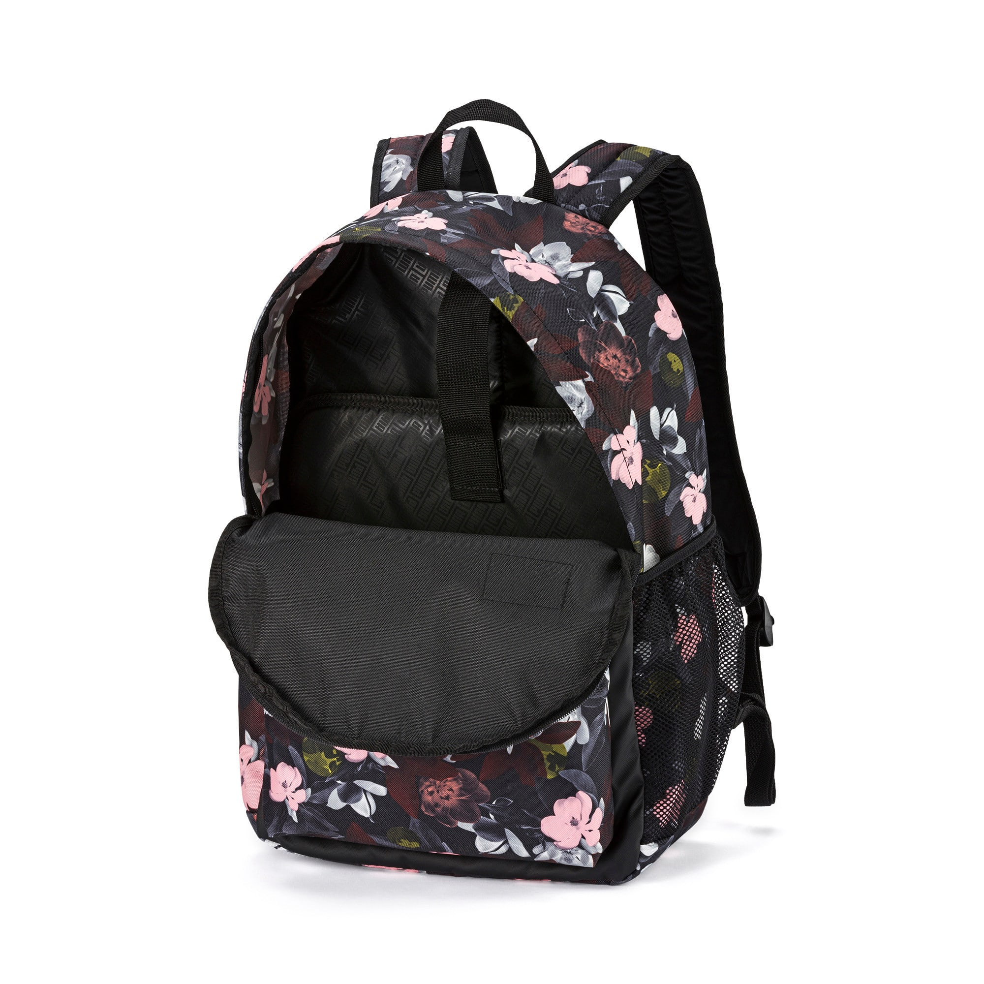 Thumbnail 3 of PUMA Academy Backpack, Puma Black-Floral AOP, medium