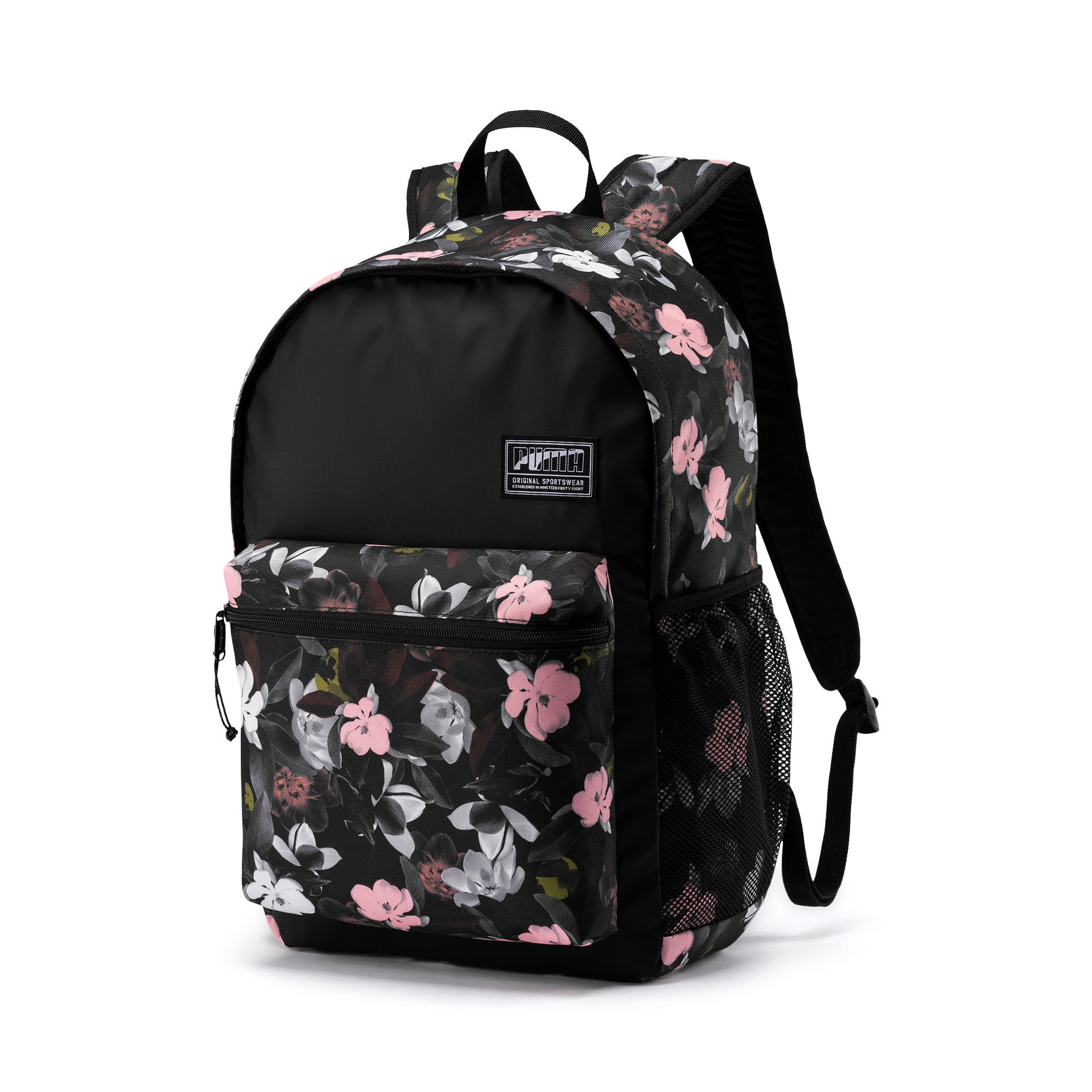 Thumbnail 1 of PUMA Academy Backpack, Puma Black-Floral AOP, medium
