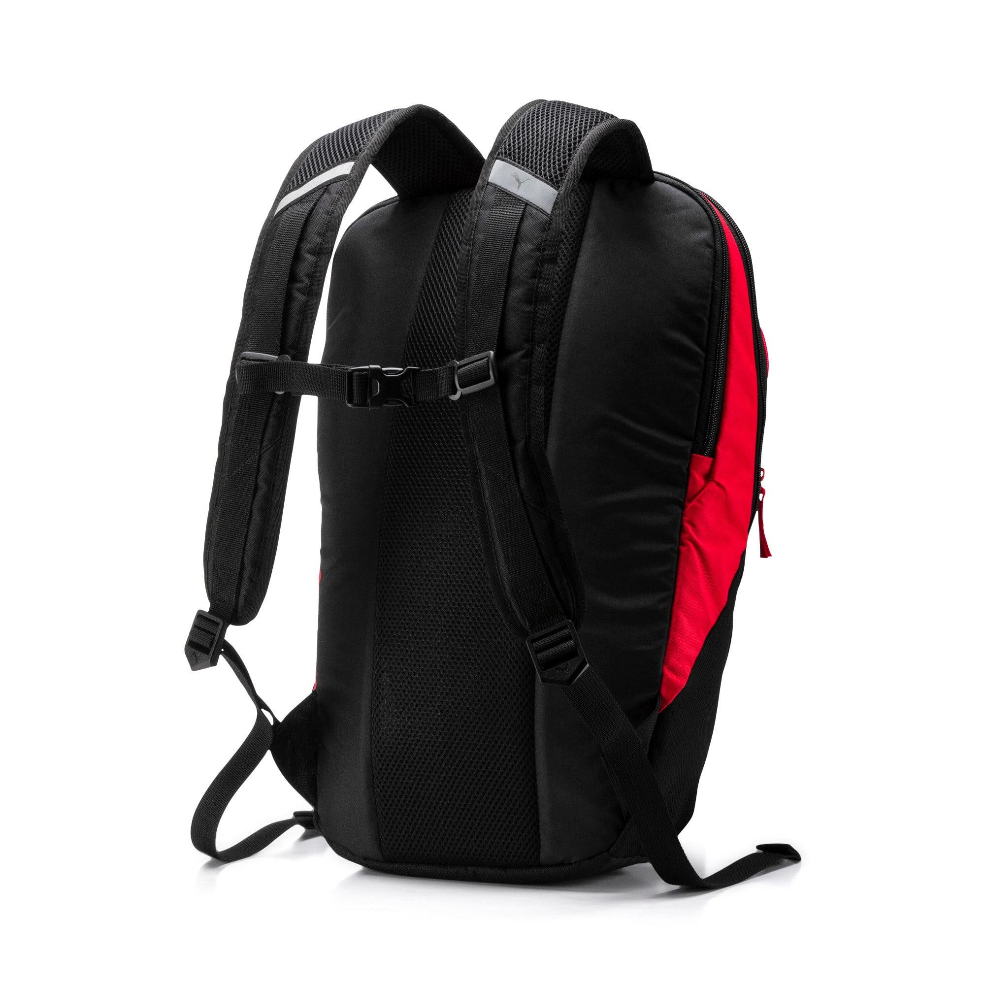 Thumbnail 3 of PUMA X Backpack, Peacoat-Puma Red-Puma Black, medium