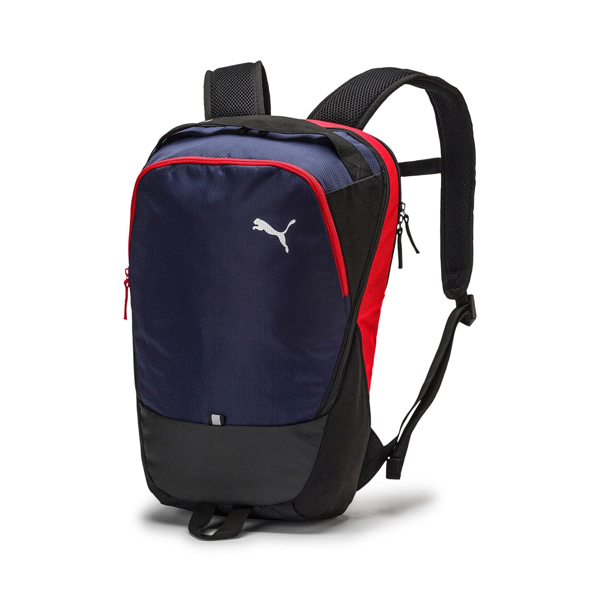 Thumbnail 1 of PUMA X Backpack, Peacoat-Puma Red-Puma Black, medium