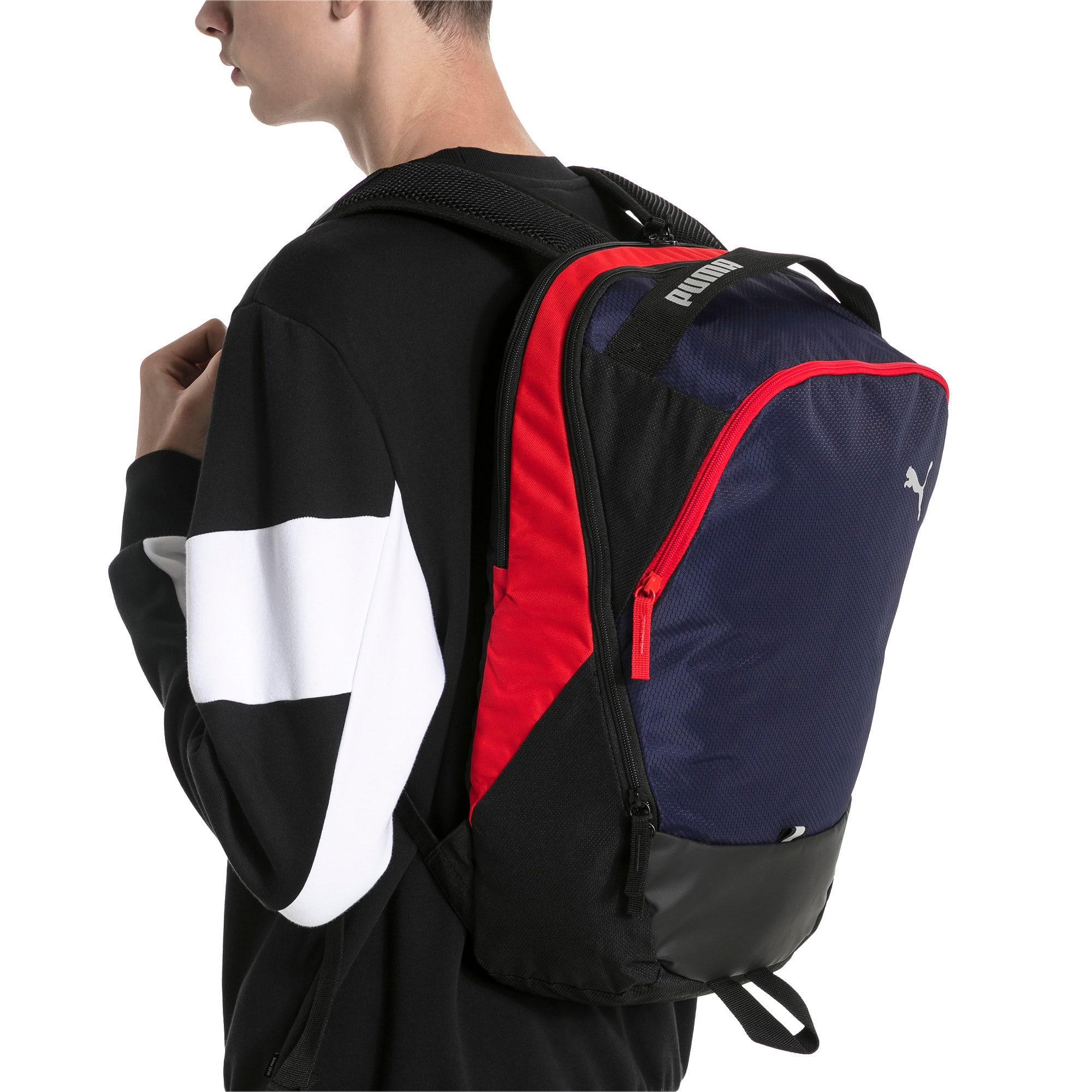 Thumbnail 2 of PUMA X Backpack, Peacoat-Puma Red-Puma Black, medium
