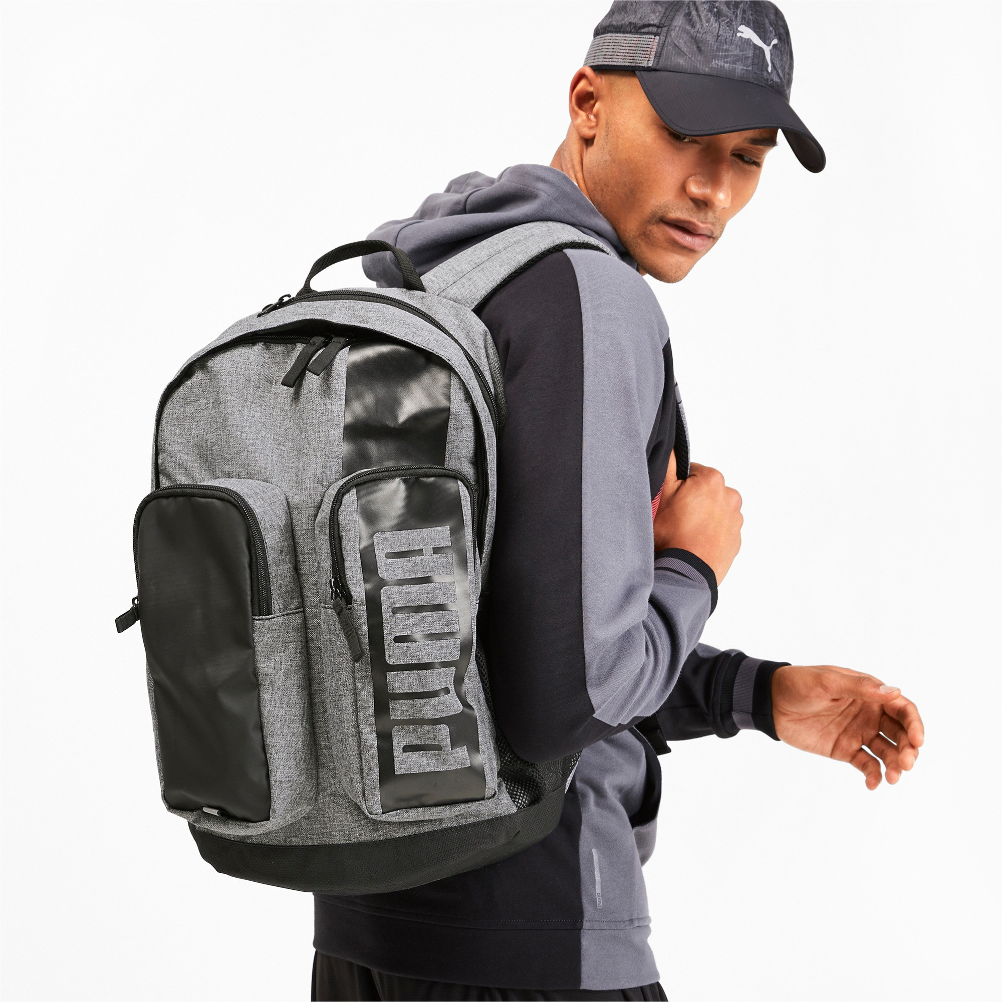 Thumbnail 2 of PUMA Deck Backpack II, Medium Gray Heather, medium
