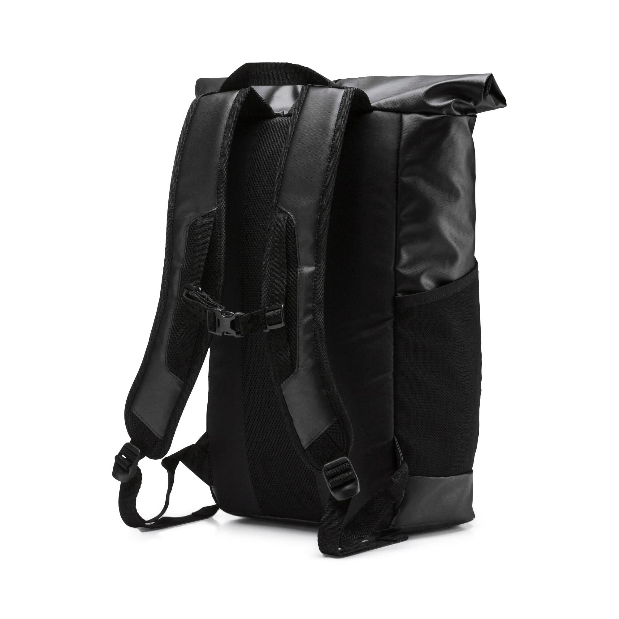 Thumbnail 3 of Energy Rolltop Backpack, Puma Black, medium