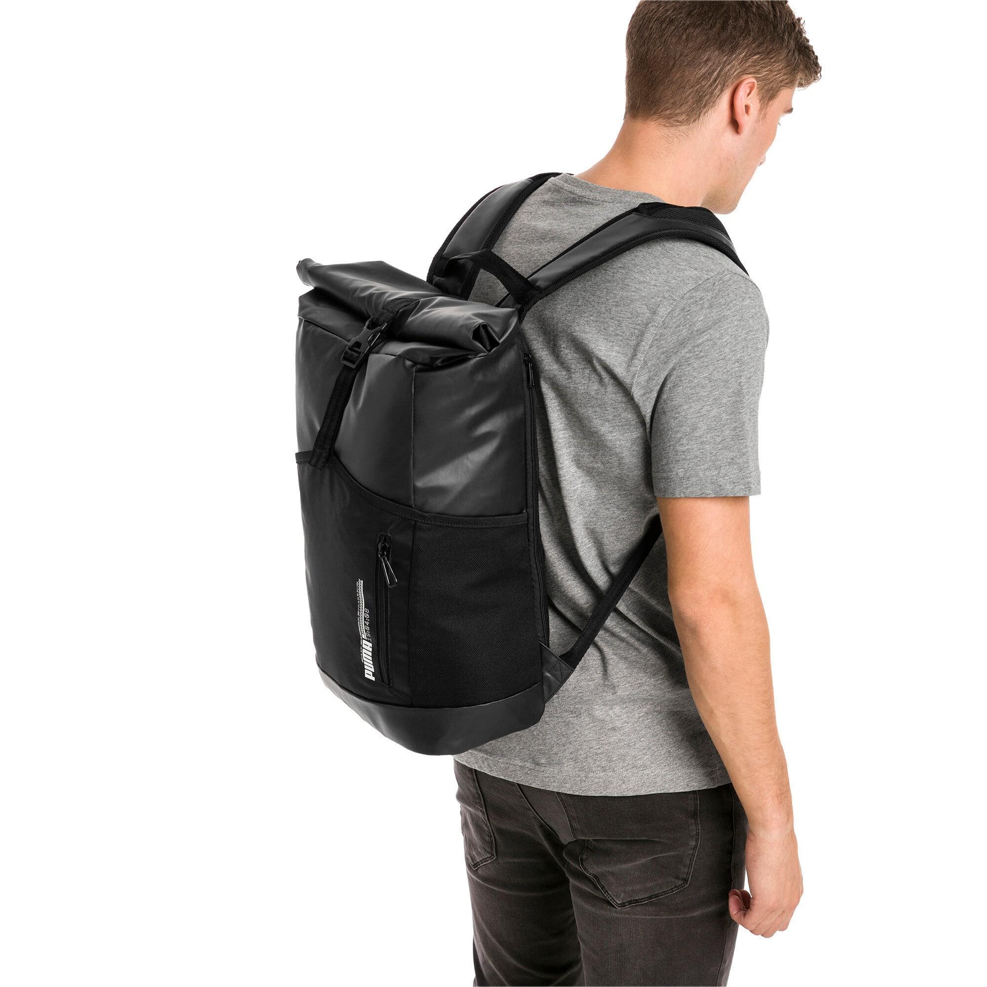 Thumbnail 2 of Energy Rolltop Backpack, Puma Black, medium