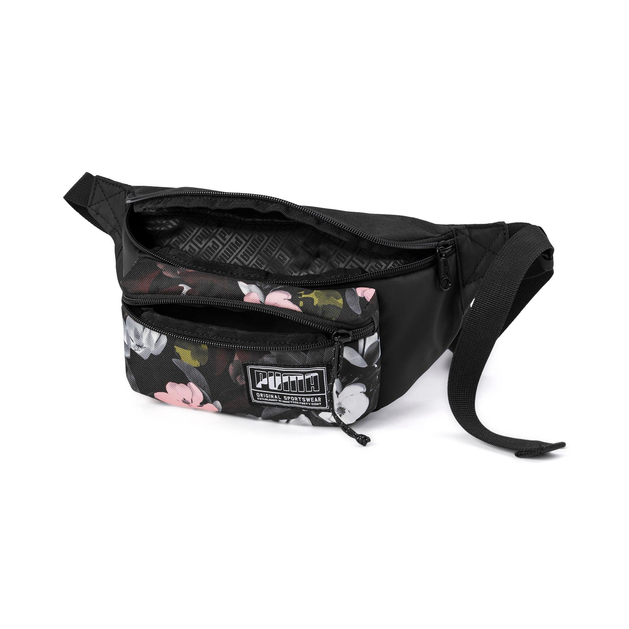 Miniatura 3 de Bolso pequeño para cintura PUMA Academy, Puma Black-Floral AOP, mediano