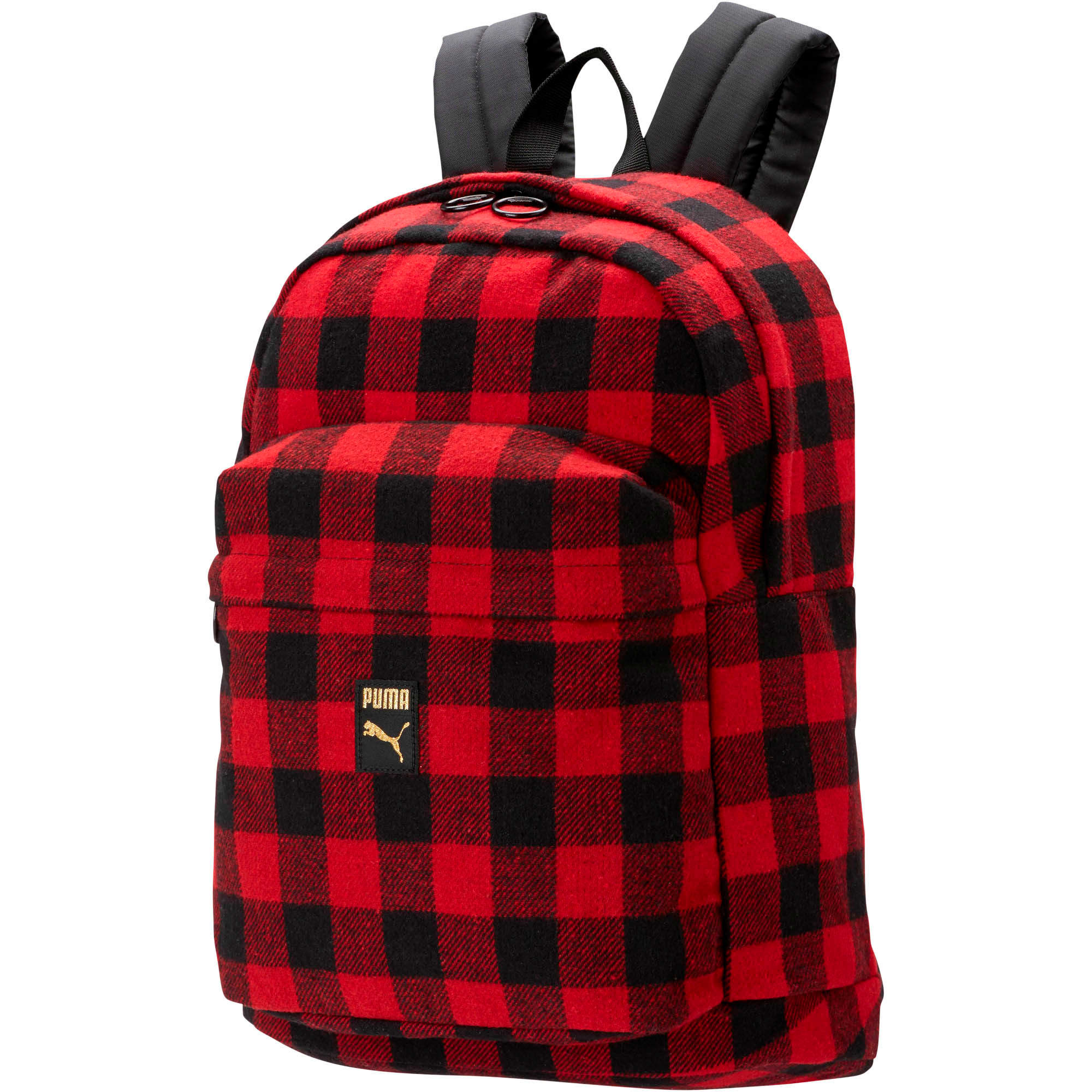 Thumbnail 1 of Check Backpack, Puma Black-Ribbon Red-check, medium