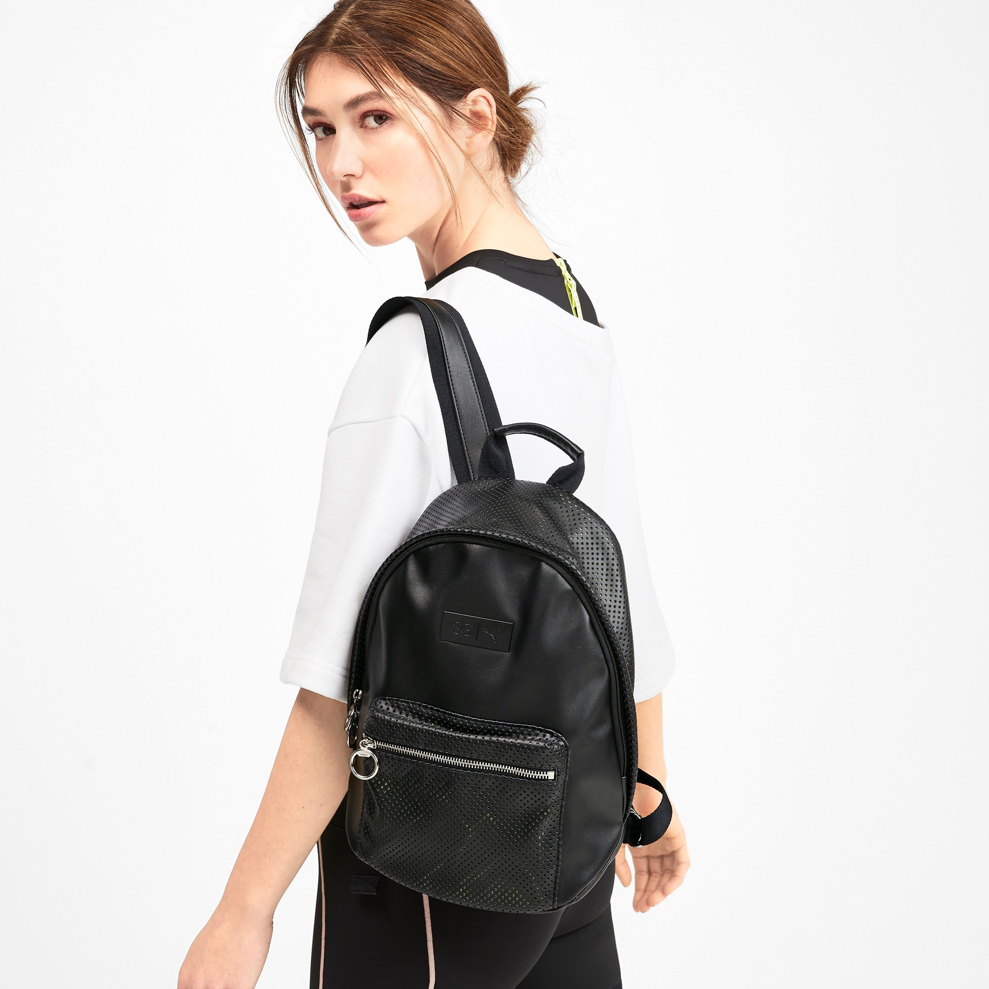 Thumbnail 2 of SG x PUMA Style Backpack, Puma Black, medium