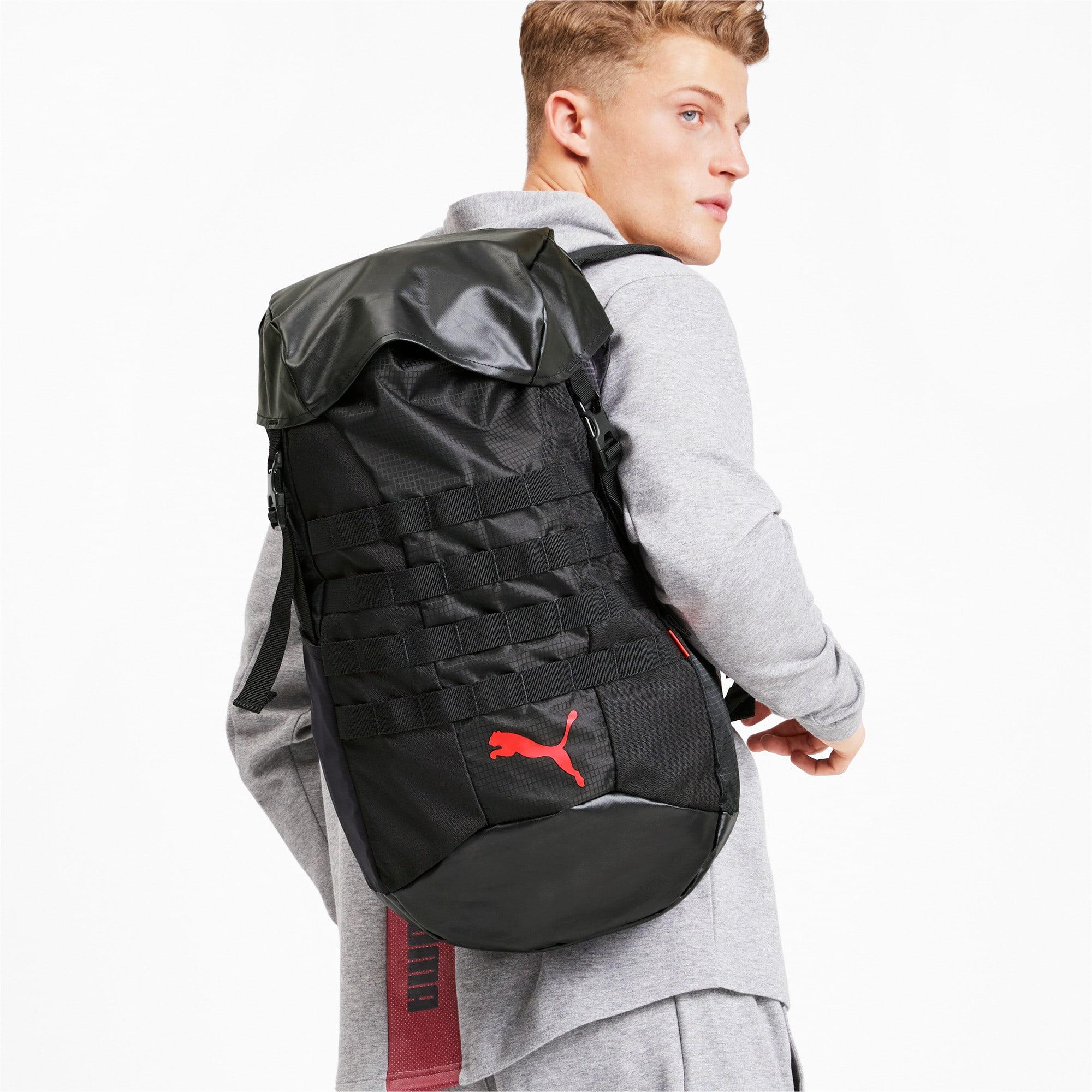 Thumbnail 2 of ftblNXT Backpack, Puma Black-Nrgy Red, medium
