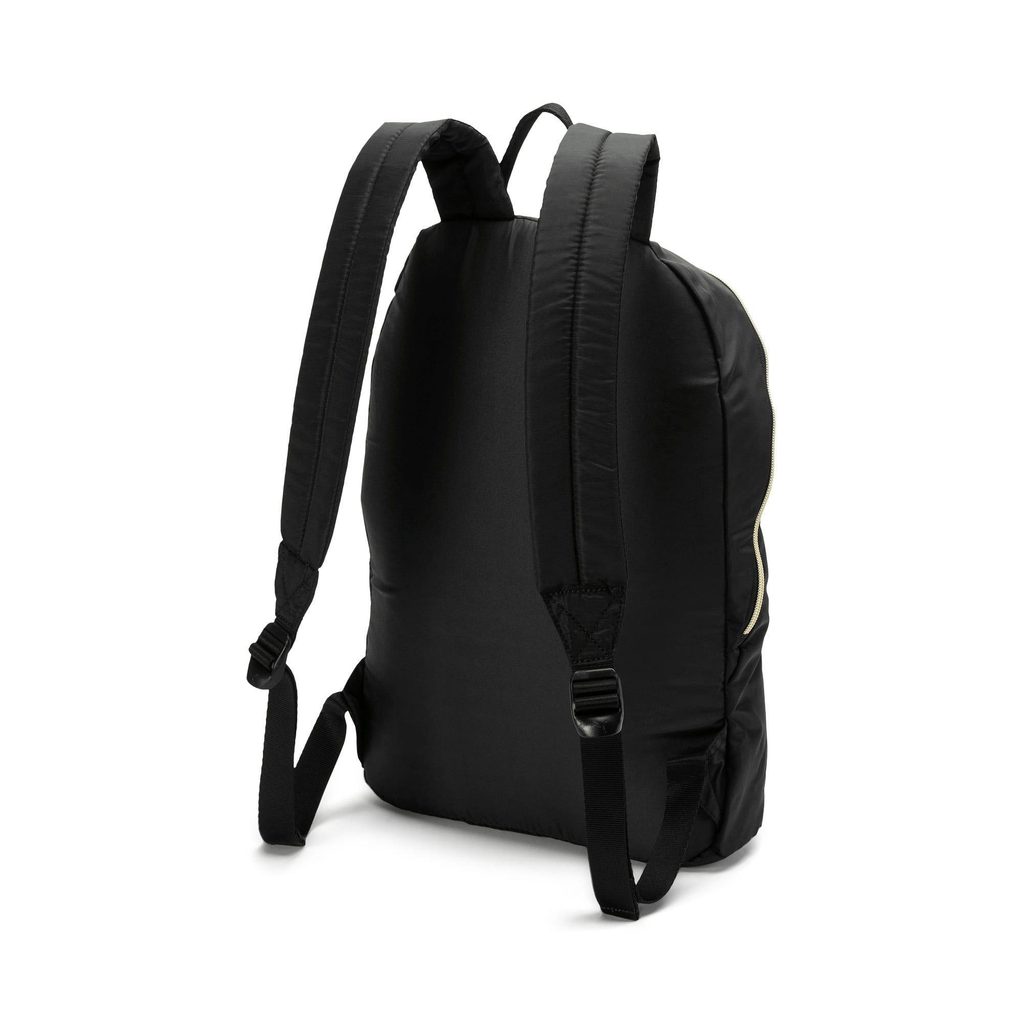 Thumbnail 3 of Core Seasonal Backpack, Puma Black-Gold, medium