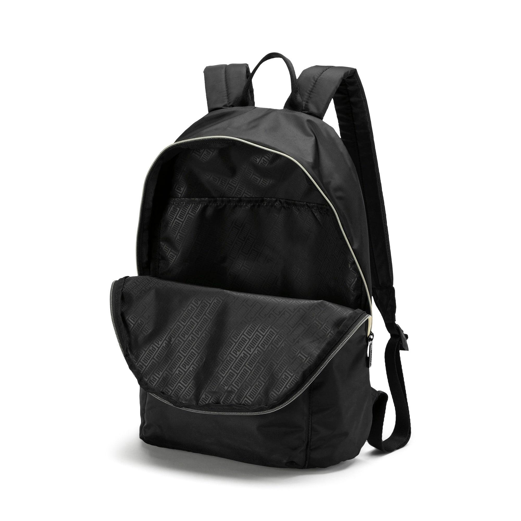 Thumbnail 4 of Core Seasonal Backpack, Puma Black-Gold, medium