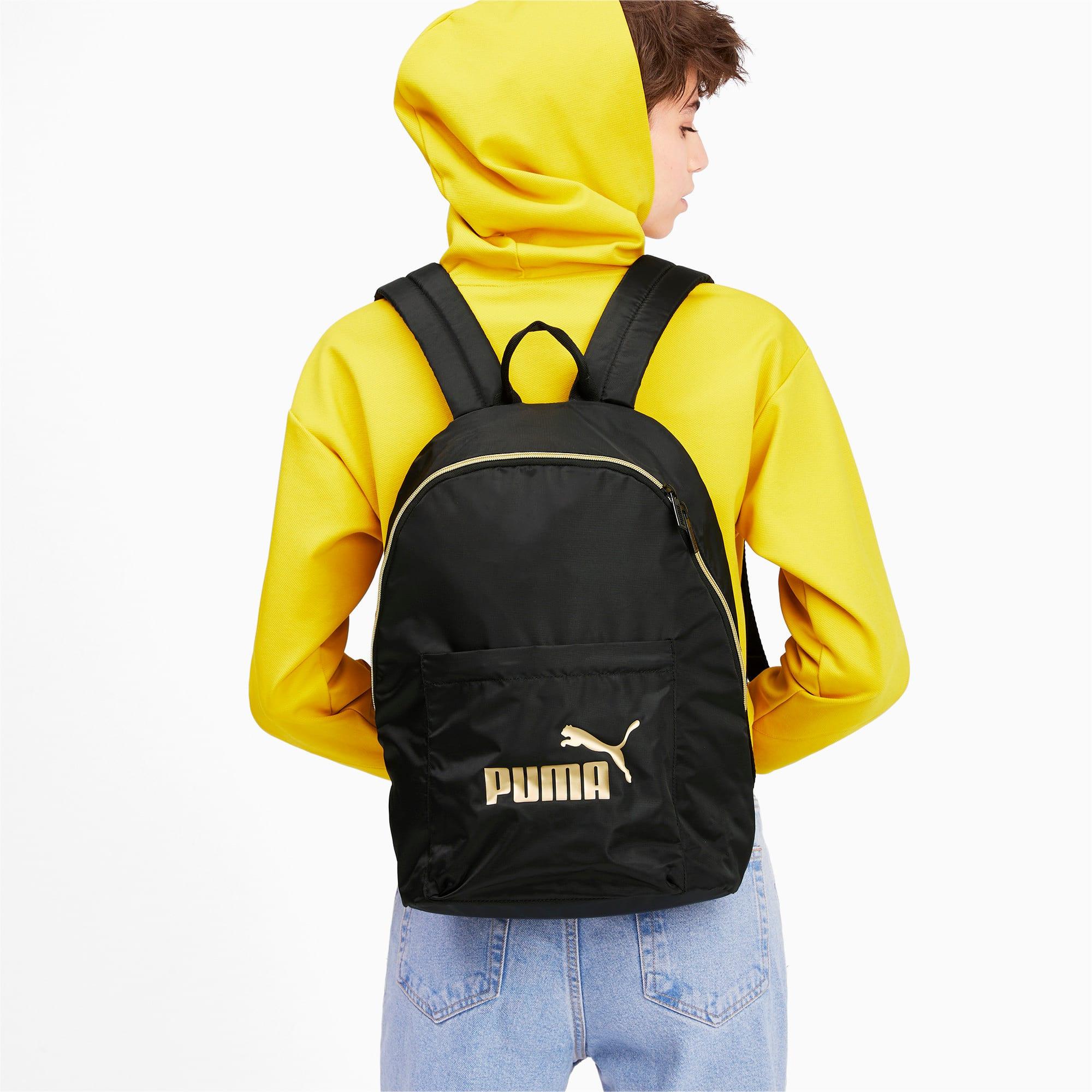 Thumbnail 2 of Core Seasonal Backpack, Puma Black-Gold, medium