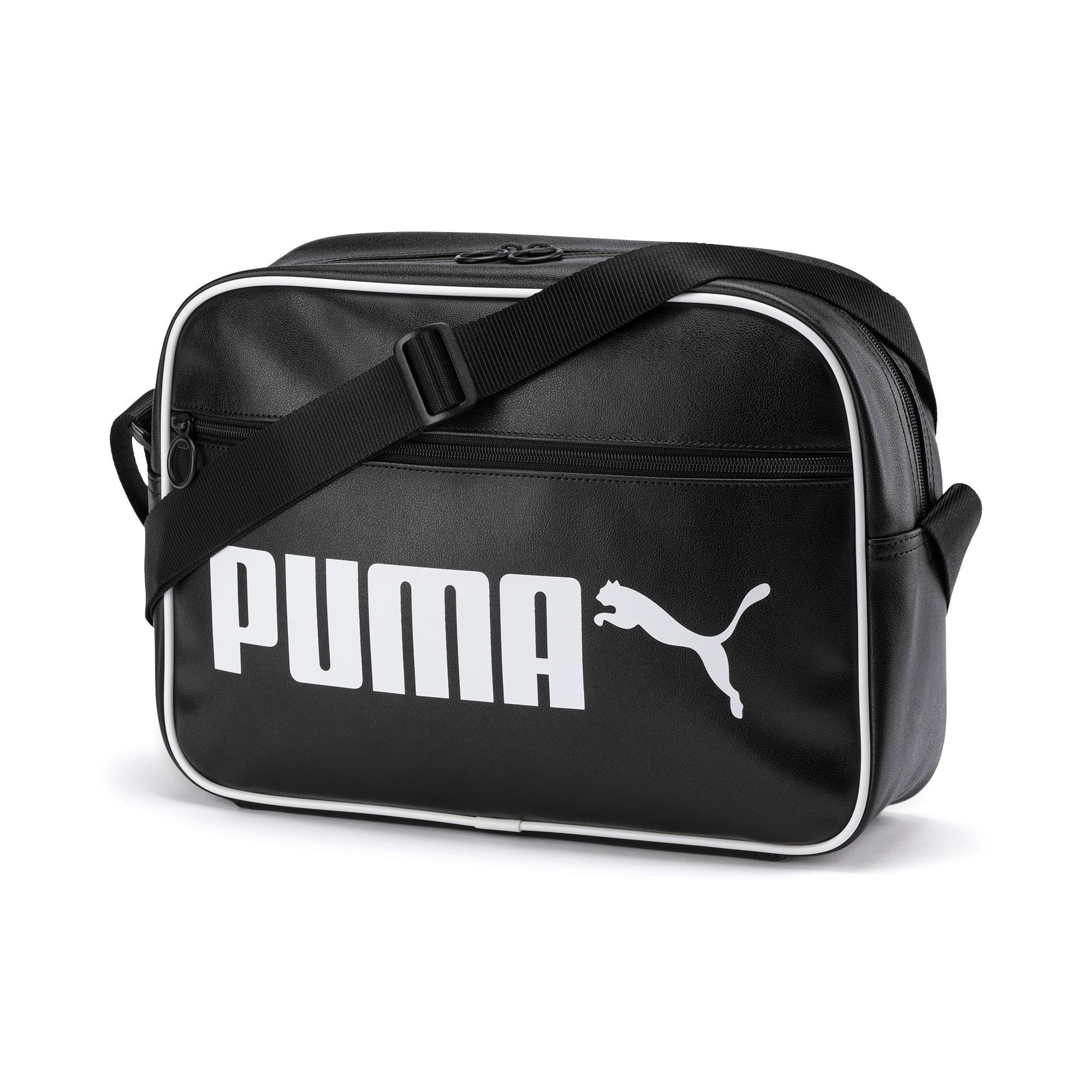 Thumbnail 1 of Campus Reporter Retro Shoulder Bag, Puma Black, medium