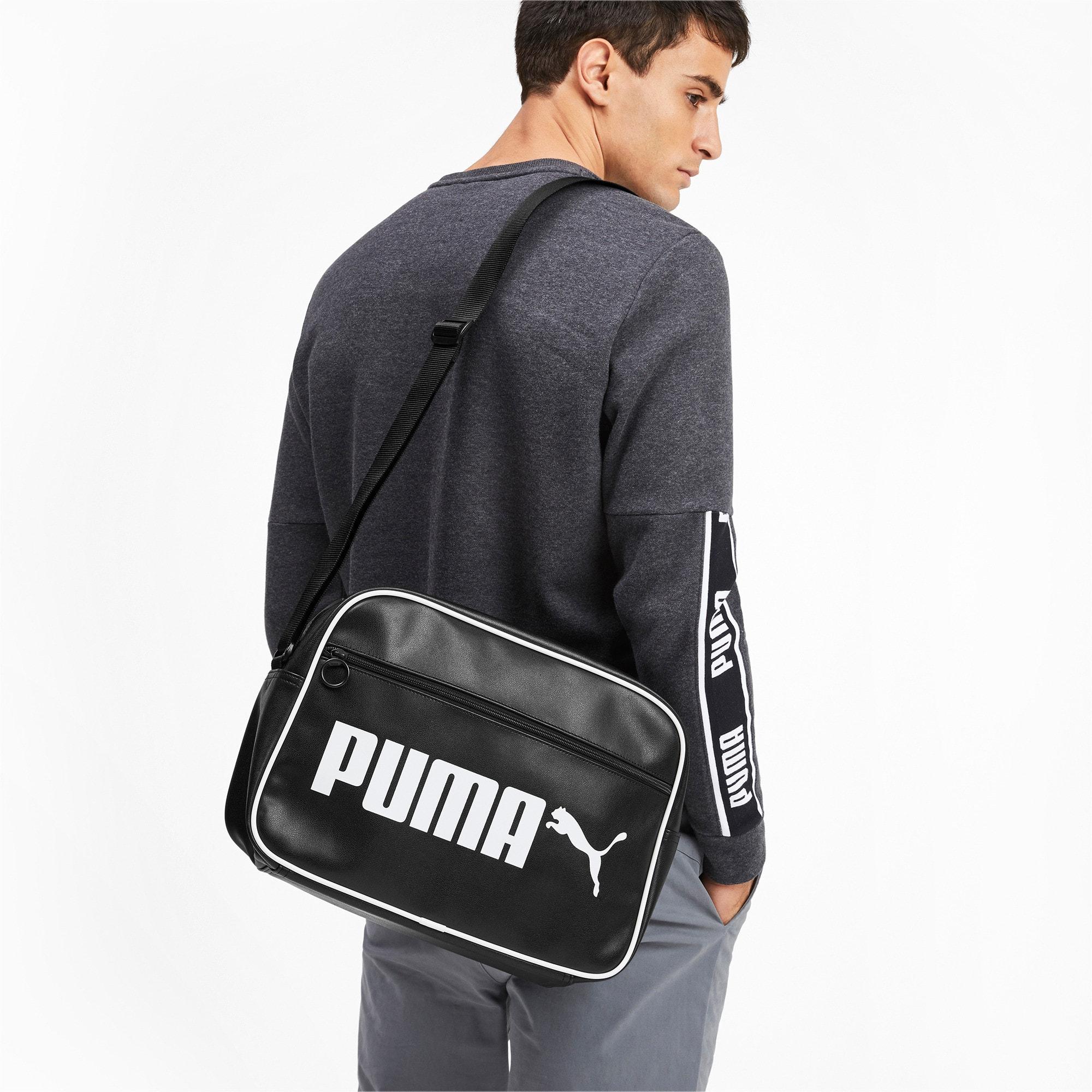 Thumbnail 2 of Campus Reporter Retro Shoulder Bag, Puma Black, medium
