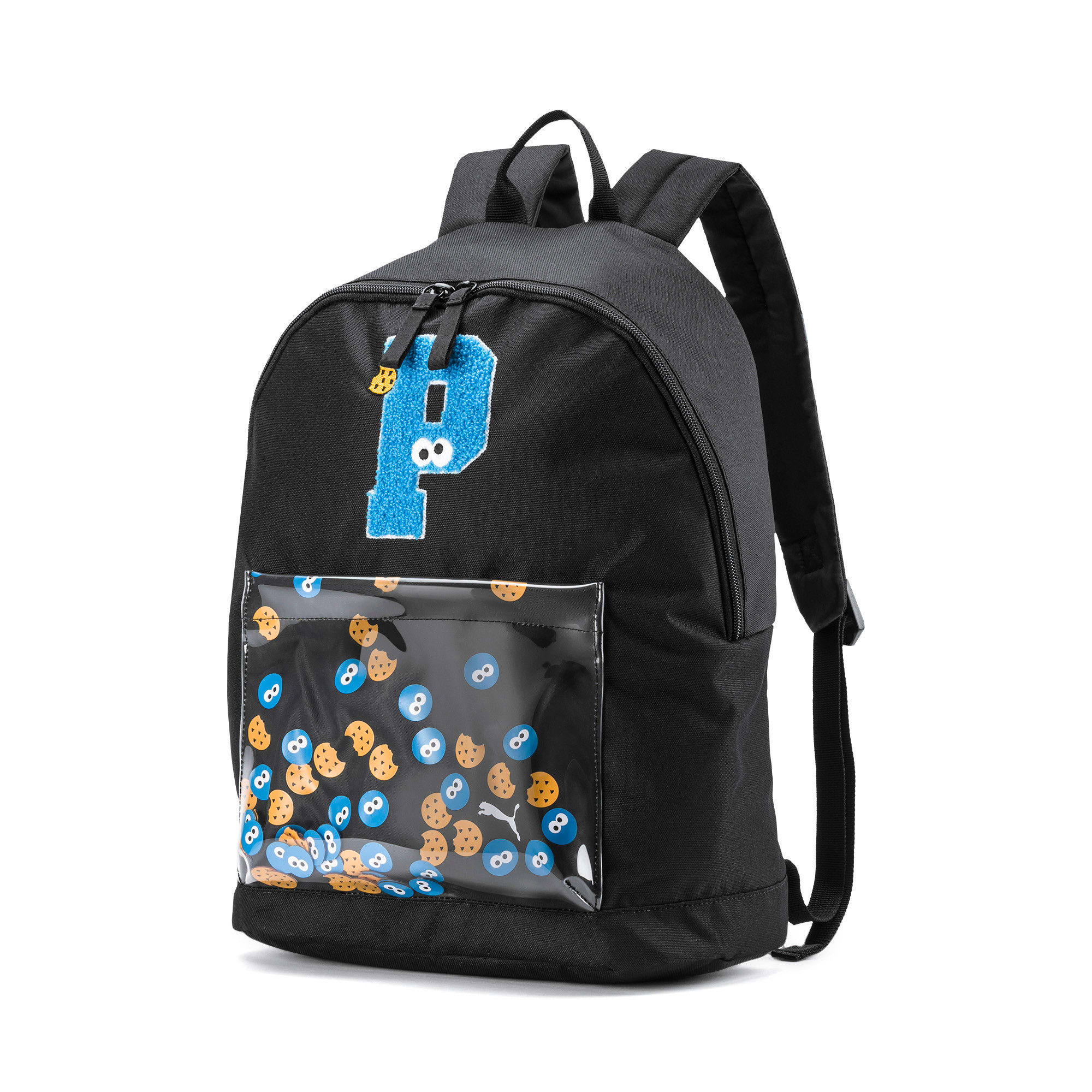 Anteprima 1 di Sesame Street Sport Kids' Backpack, Puma Black, medio