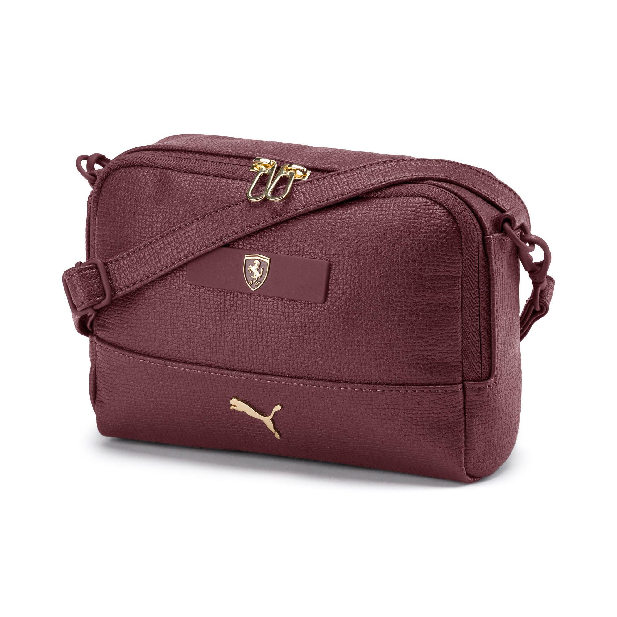 Thumbnail 1 of PUMA x Ferrari Mini Women's handbag, Vineyard Wine, medium-IND