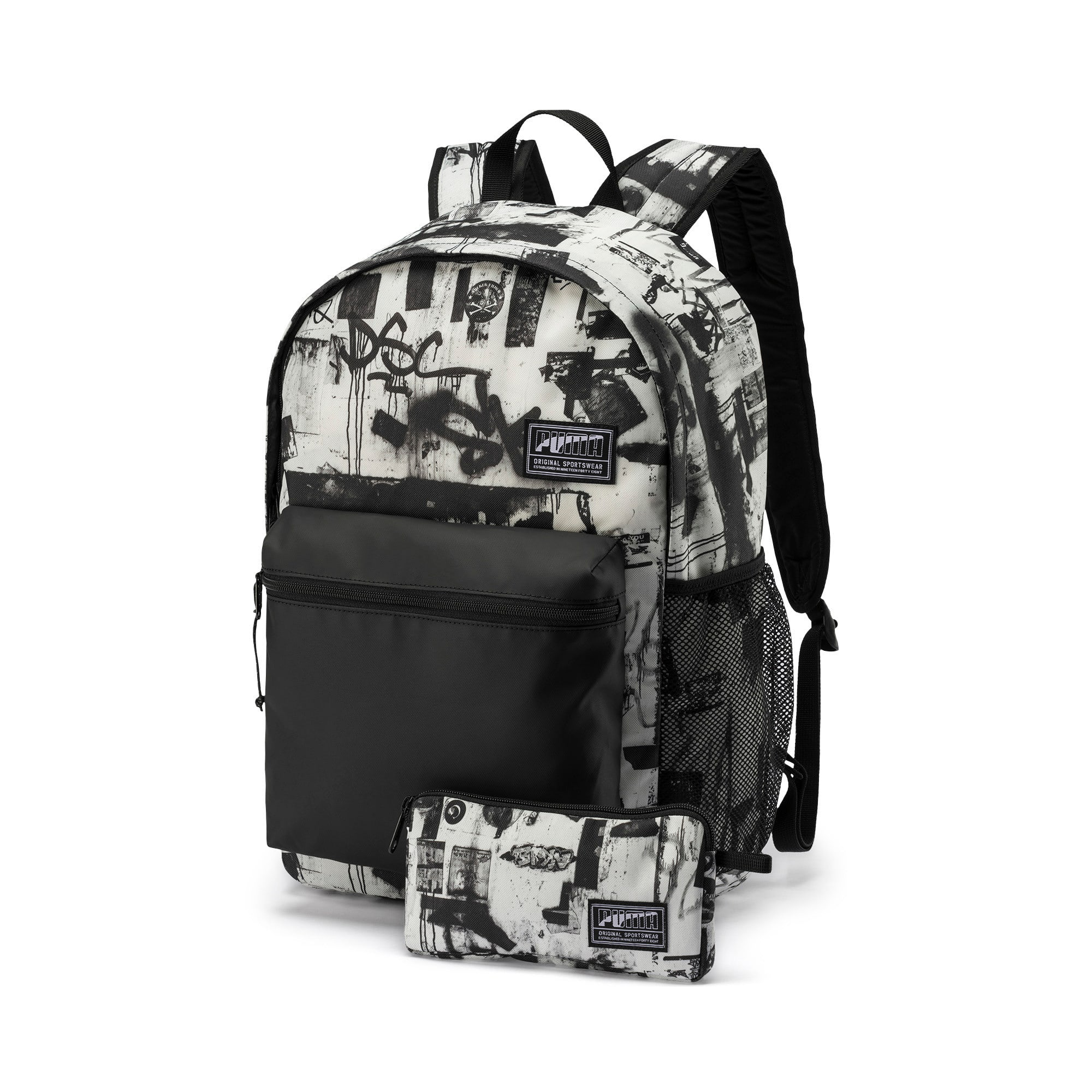 Thumbnail 1 of PUMA Academy Backpack Set, Puma White-Street AOP, medium