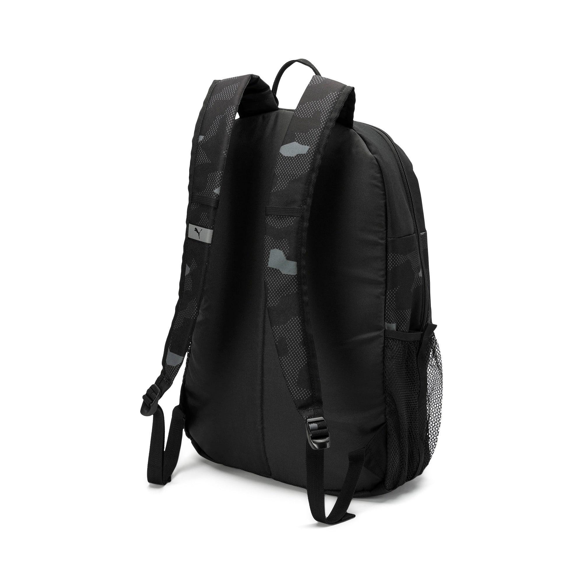 Thumbnail 2 of PUMA Style Backpack, Puma Black-Camo AOP, medium