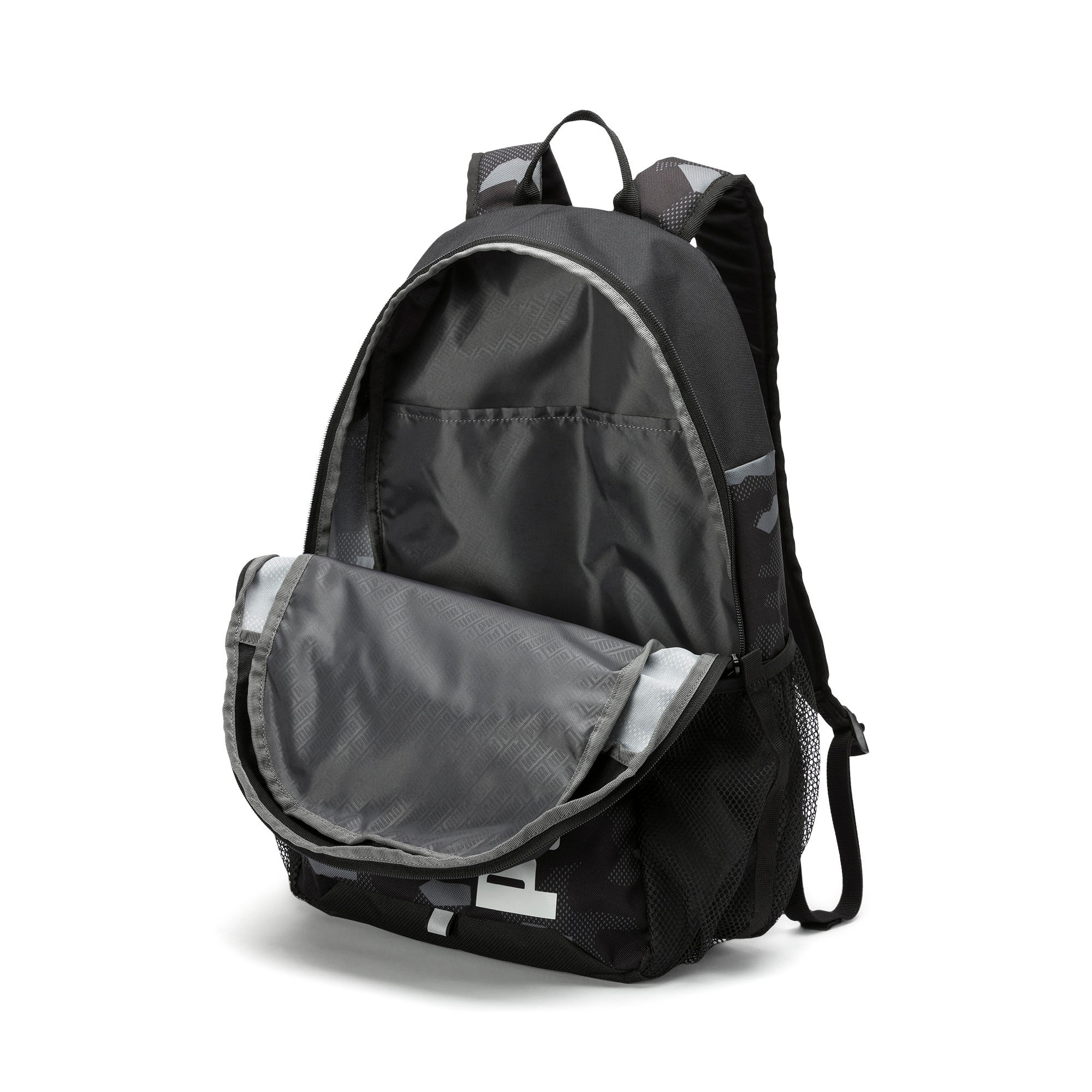Thumbnail 3 of PUMA Style Backpack, Puma Black-Camo AOP, medium