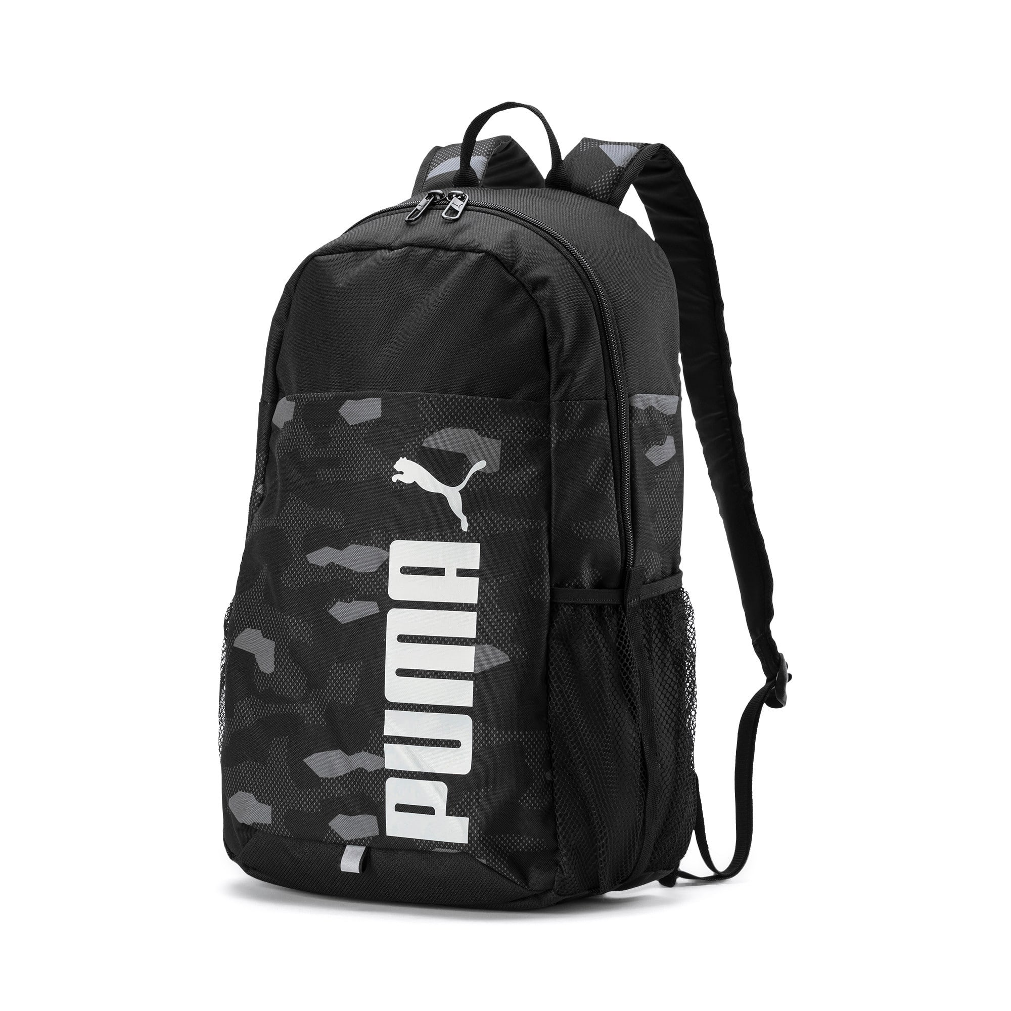 Thumbnail 1 of PUMA Style Backpack, Puma Black-Camo AOP, medium