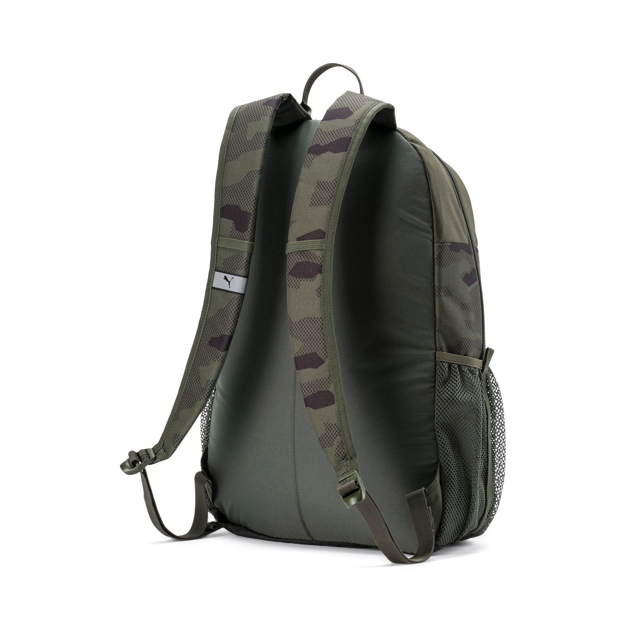 Thumbnail 2 of PUMA Style Backpack, Forest Night-Camo AOP, medium