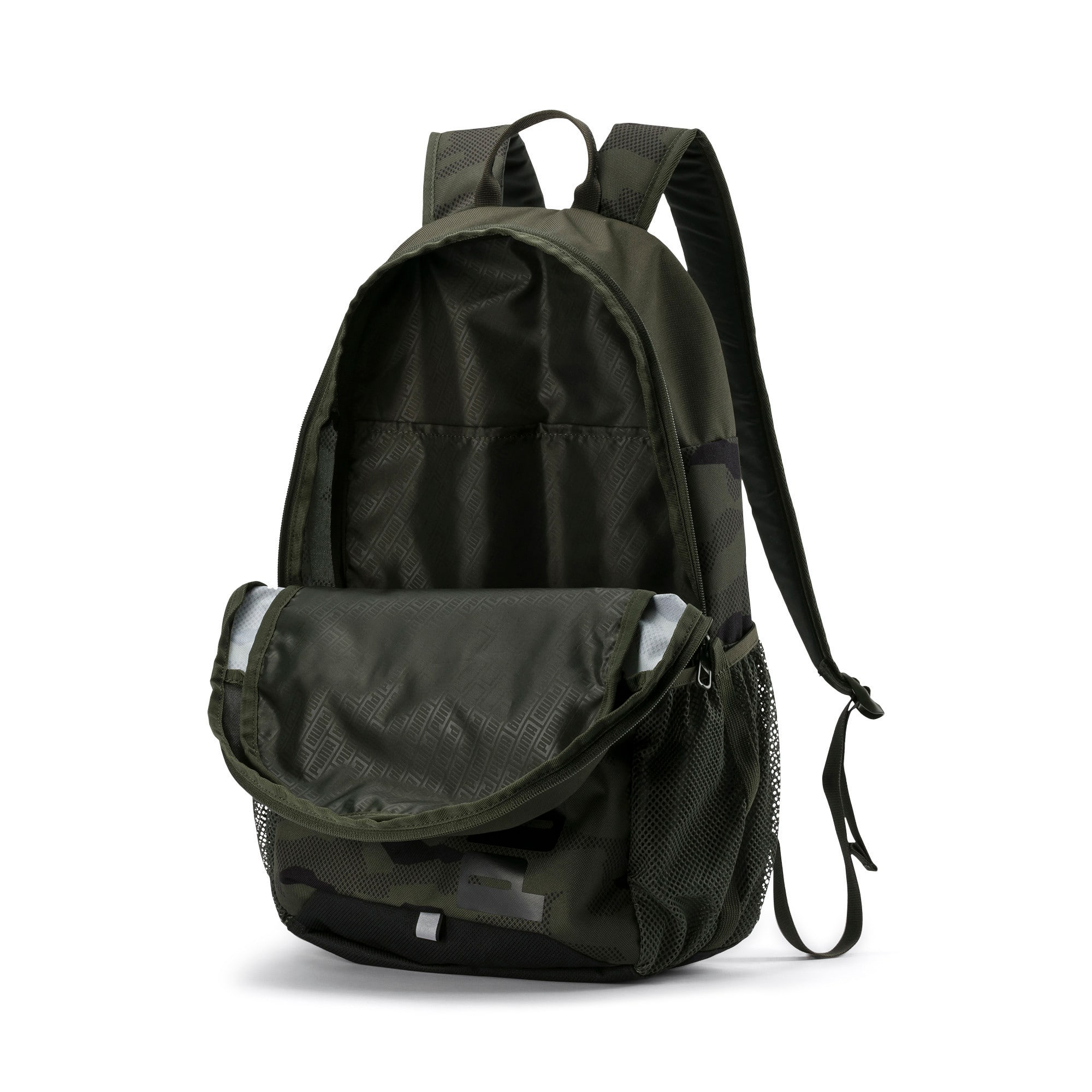 Thumbnail 3 of PUMA Style Backpack, Forest Night-Camo AOP, medium