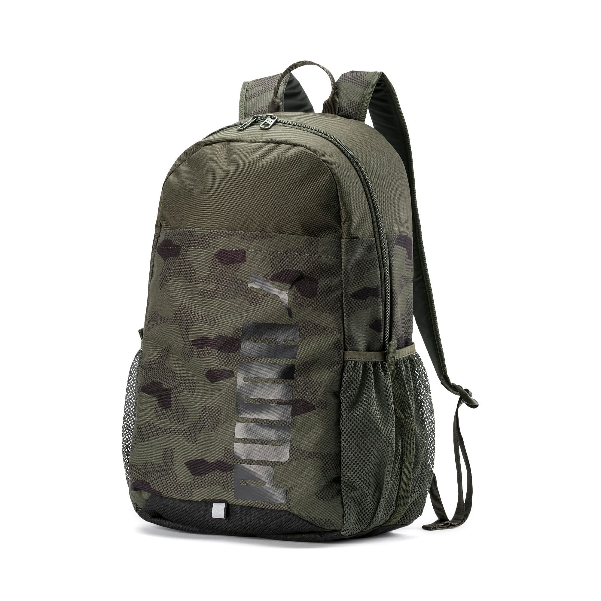 Thumbnail 1 of PUMA Style Backpack, Forest Night-Camo AOP, medium
