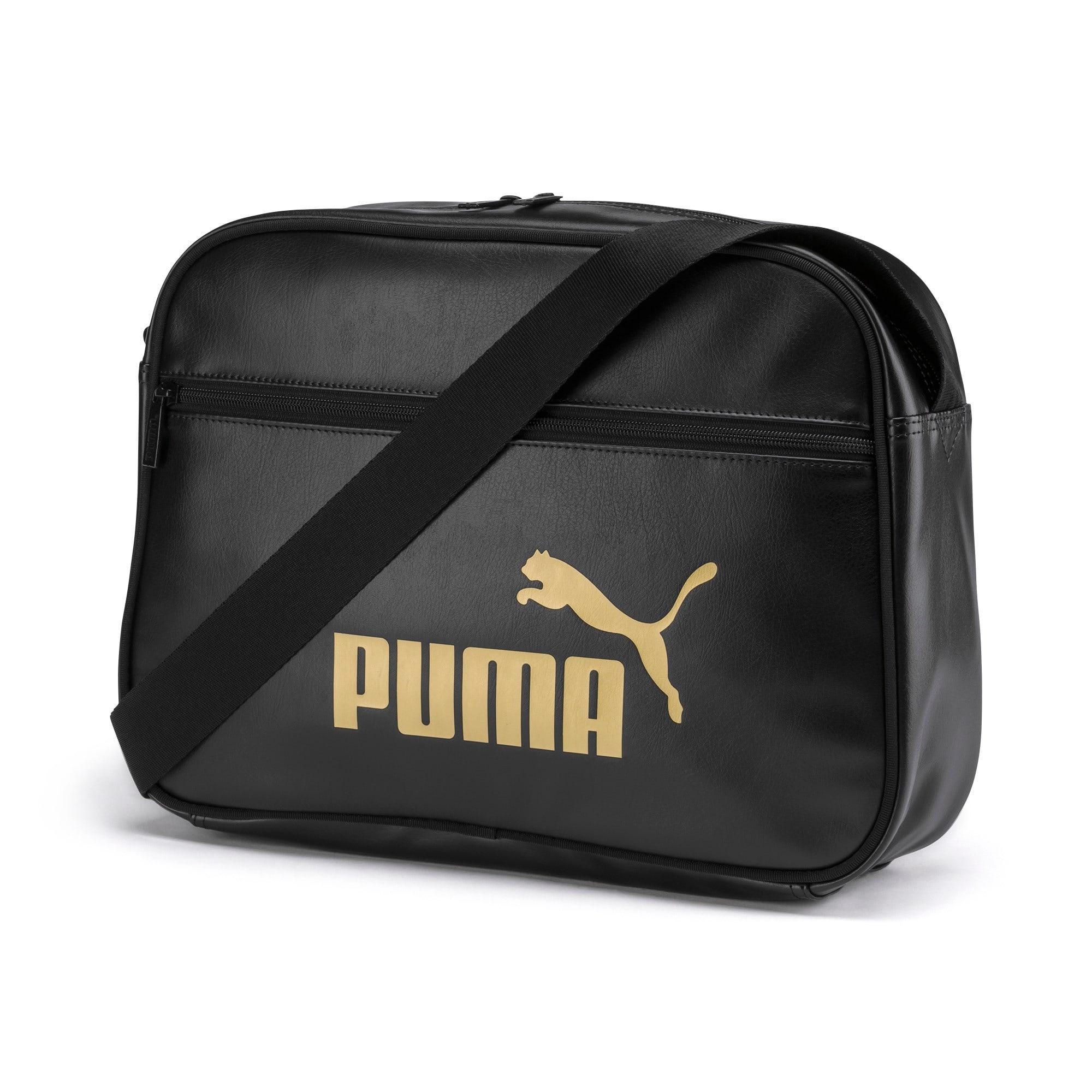 Thumbnail 1 of Core Up Reporter Bag, Puma Black-Gold, medium