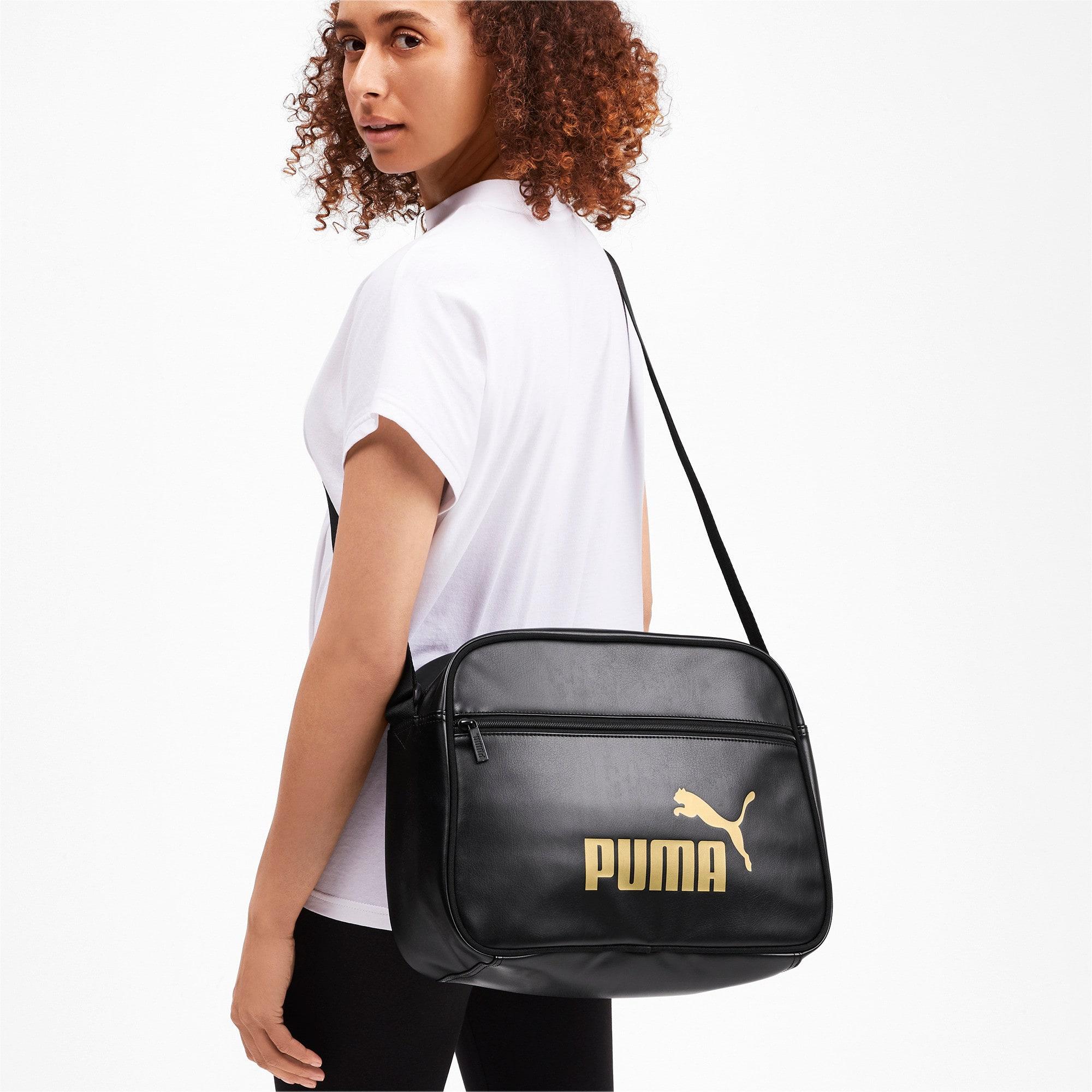 Thumbnail 3 of Core Up Reporter Bag, Puma Black-Gold, medium