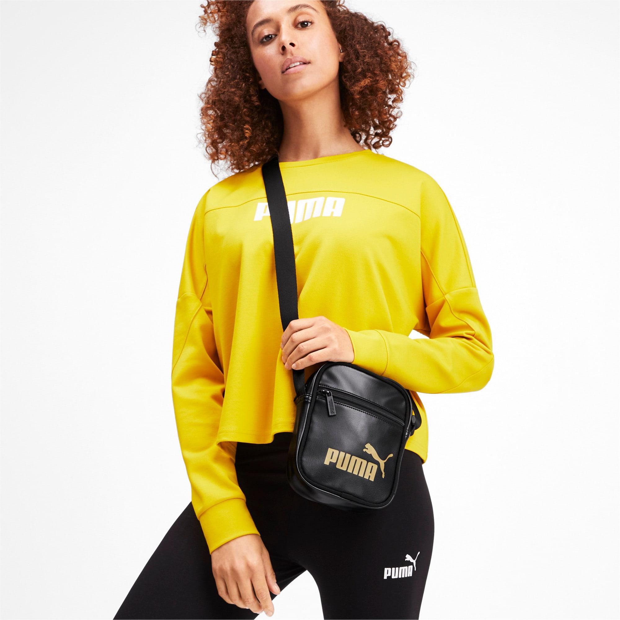 Anteprima 2 di Up Women's Portable Shoulder Bag, Puma Black-gold, medio
