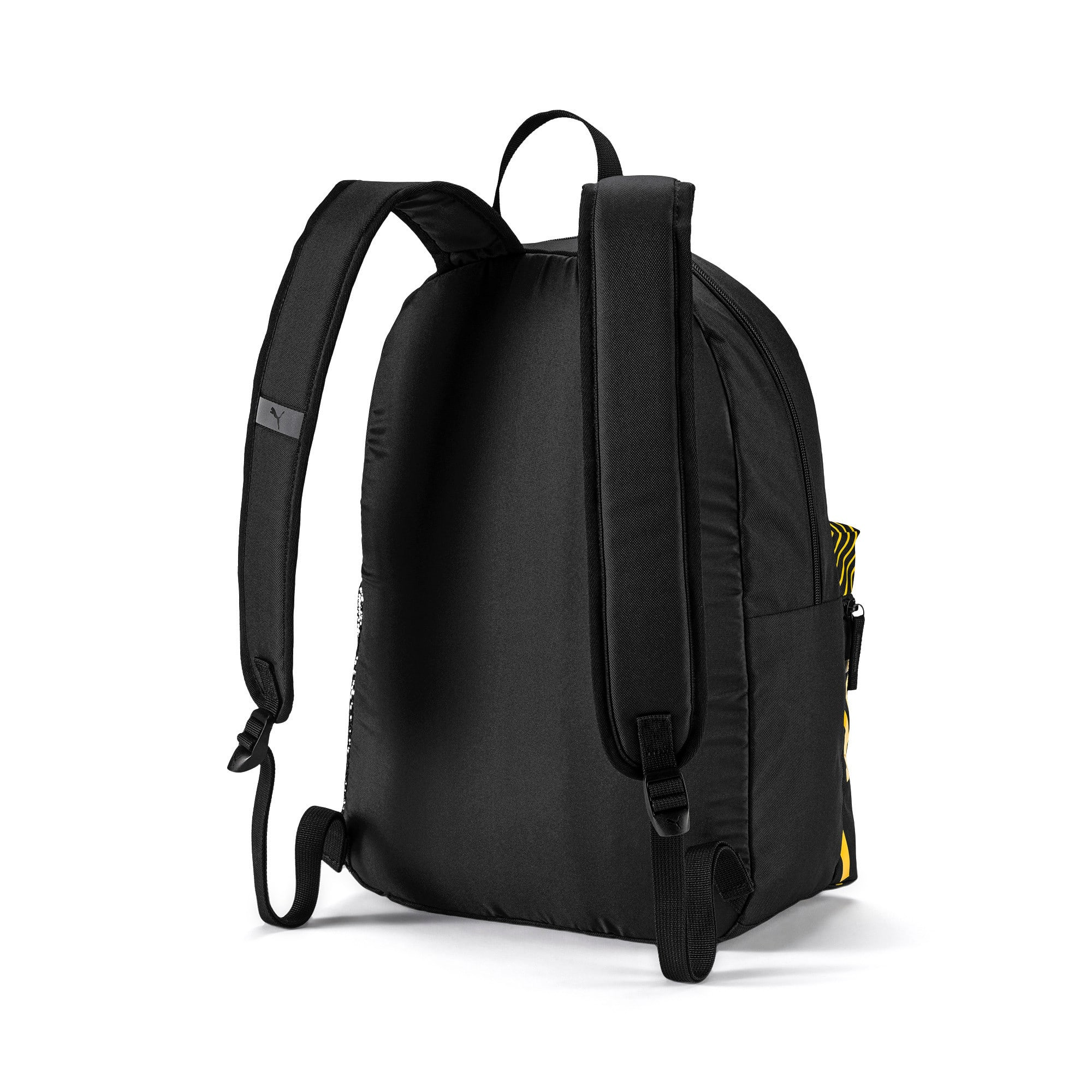 Thumbnail 2 of BVB DNA Backpack, Puma Black-Cyber Yellow, medium