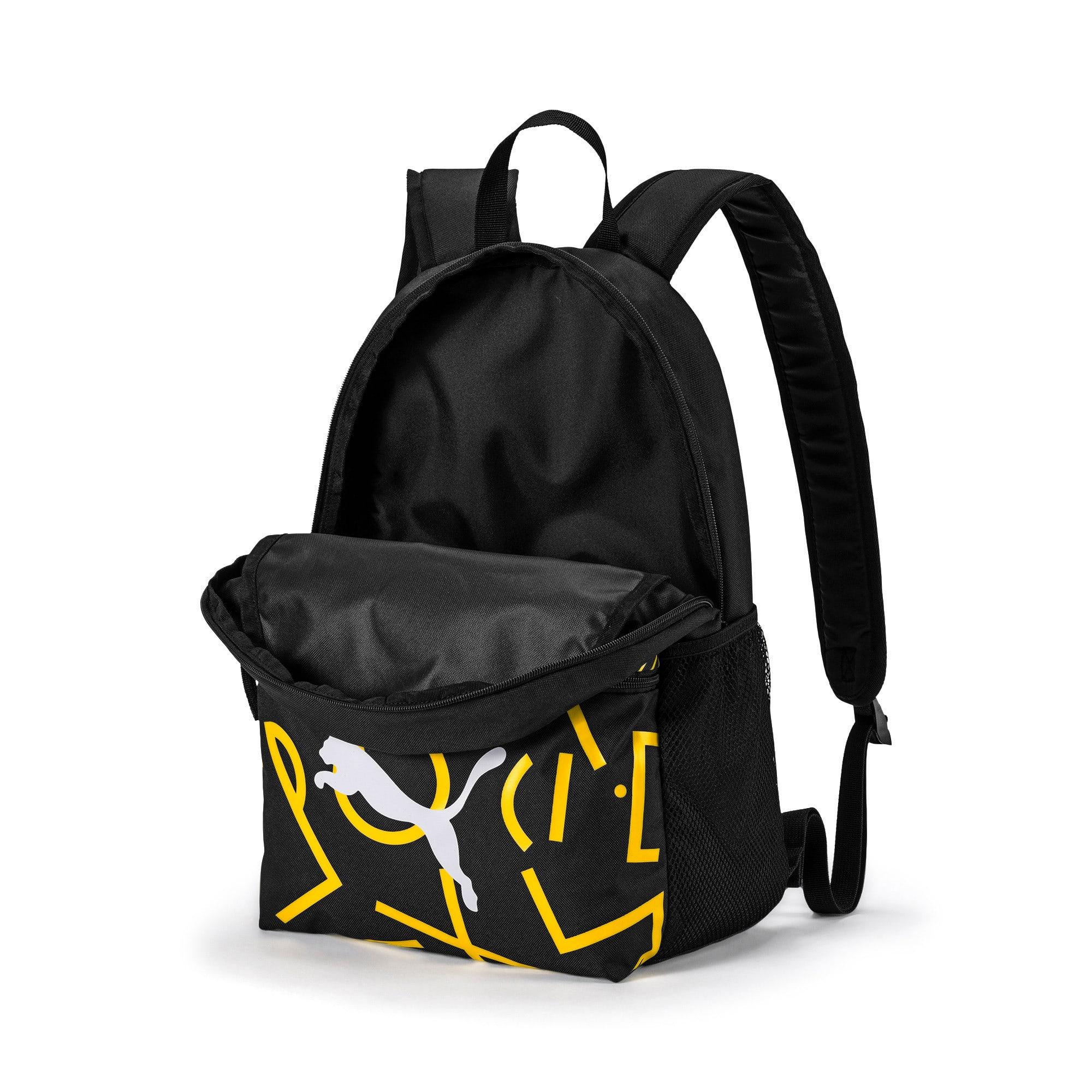 Thumbnail 3 of BVB DNA Backpack, Puma Black-Cyber Yellow, medium