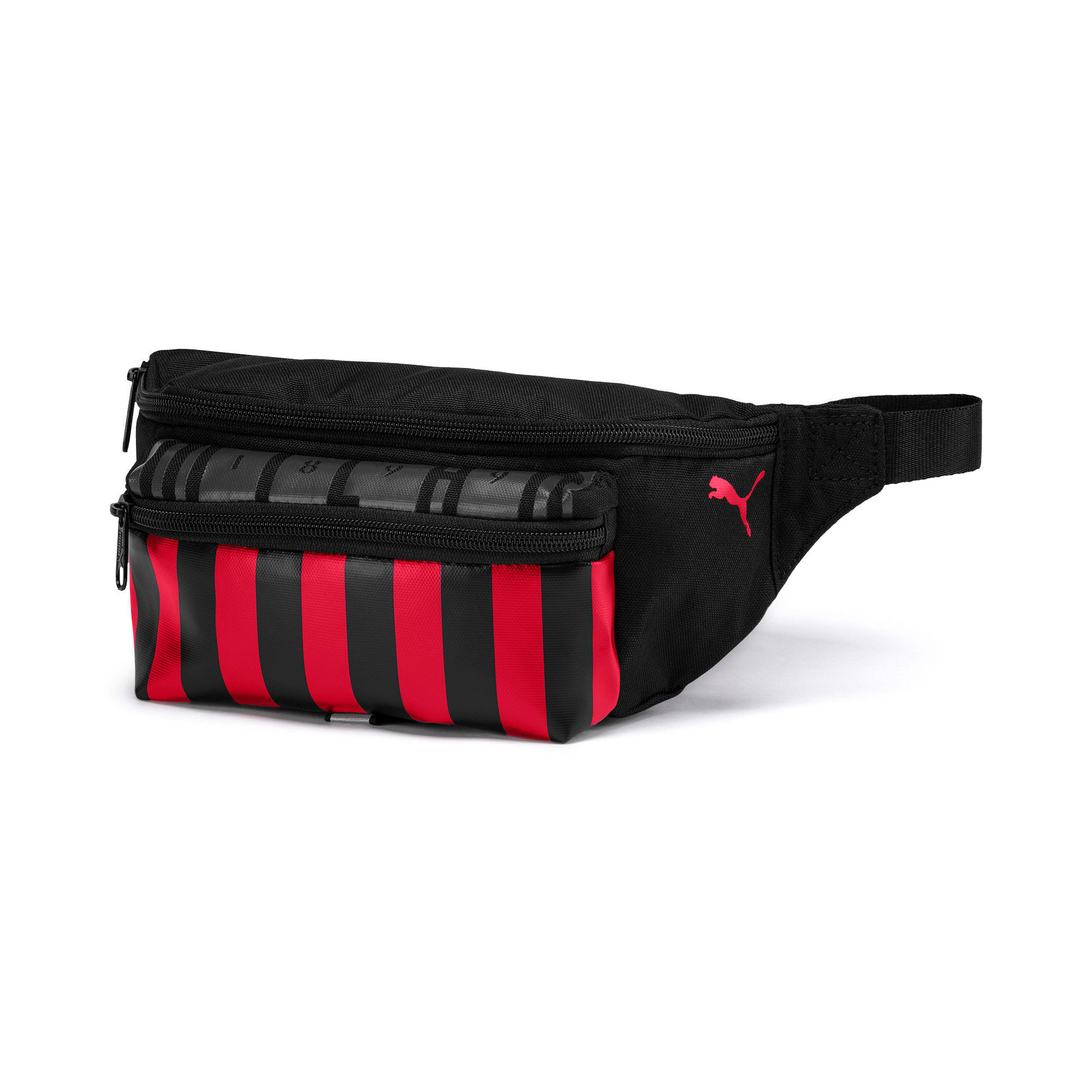 Thumbnail 1 of AC Milan Football Culture Waist Bag, Puma Black-Tango Red, medium