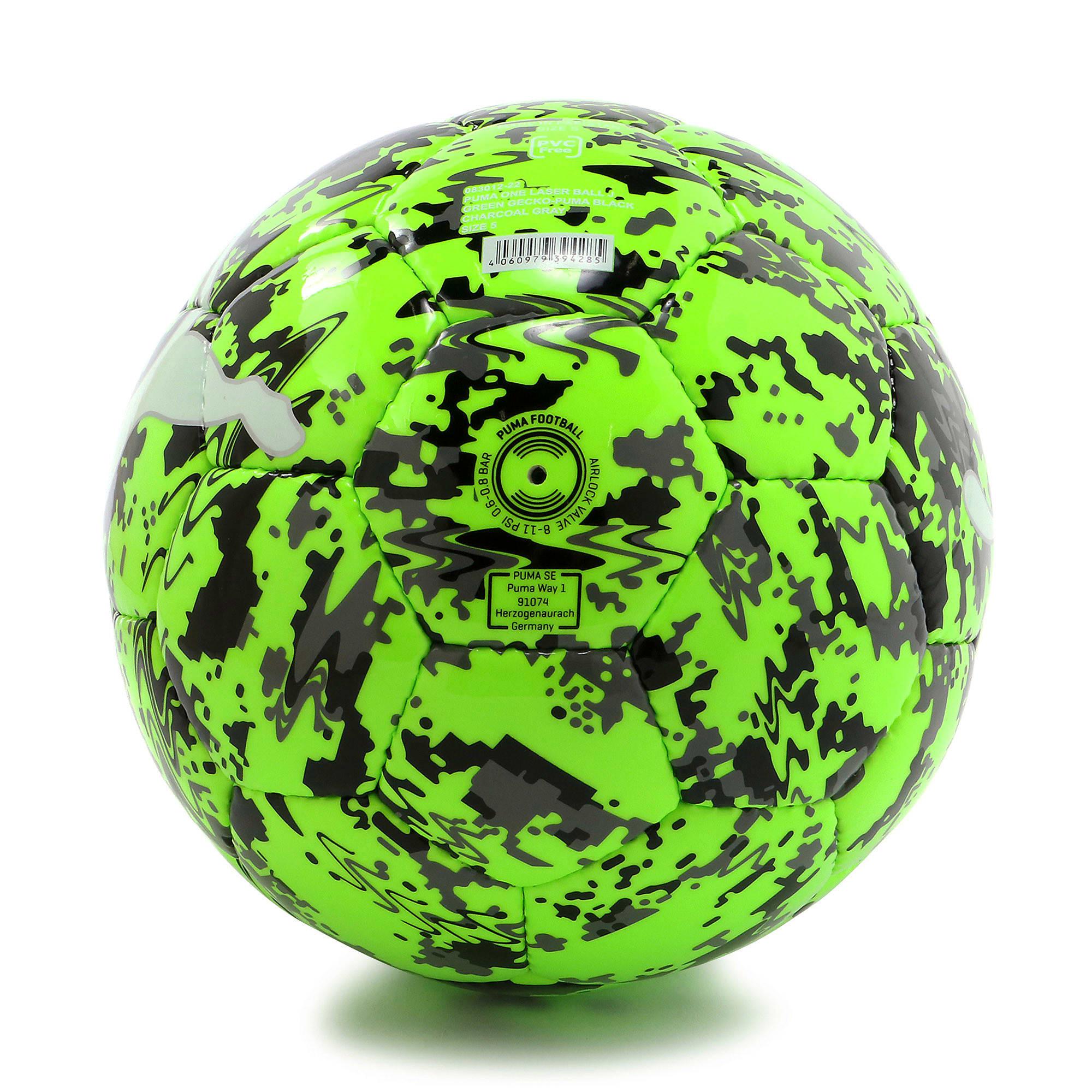 Thumbnail 2 of プーマ ワン レーザー サッカー ボール J, Green Gecko-Black-Gray, medium-JPN