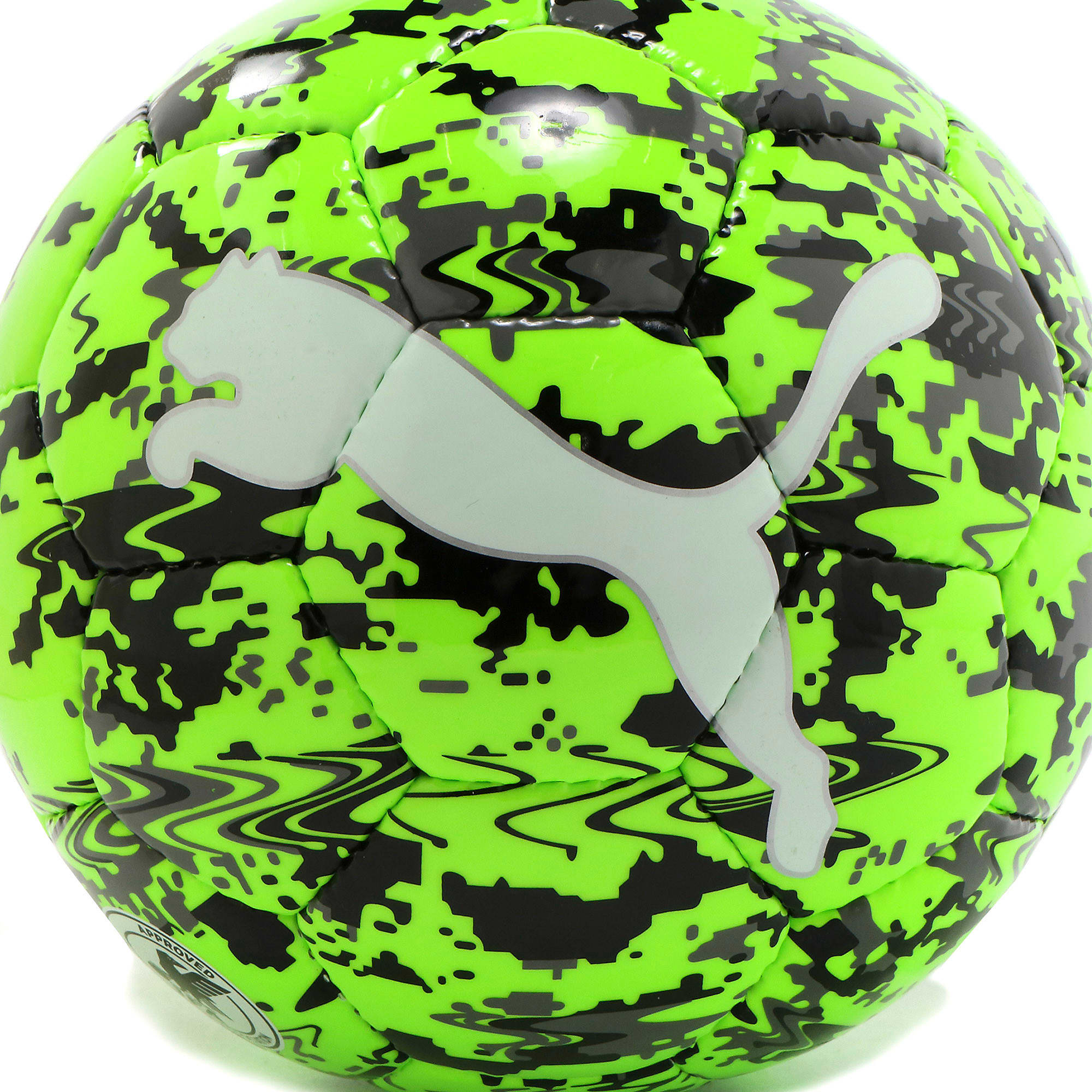 Thumbnail 3 of プーマ ワン レーザー サッカー ボール J, Green Gecko-Black-Gray, medium-JPN