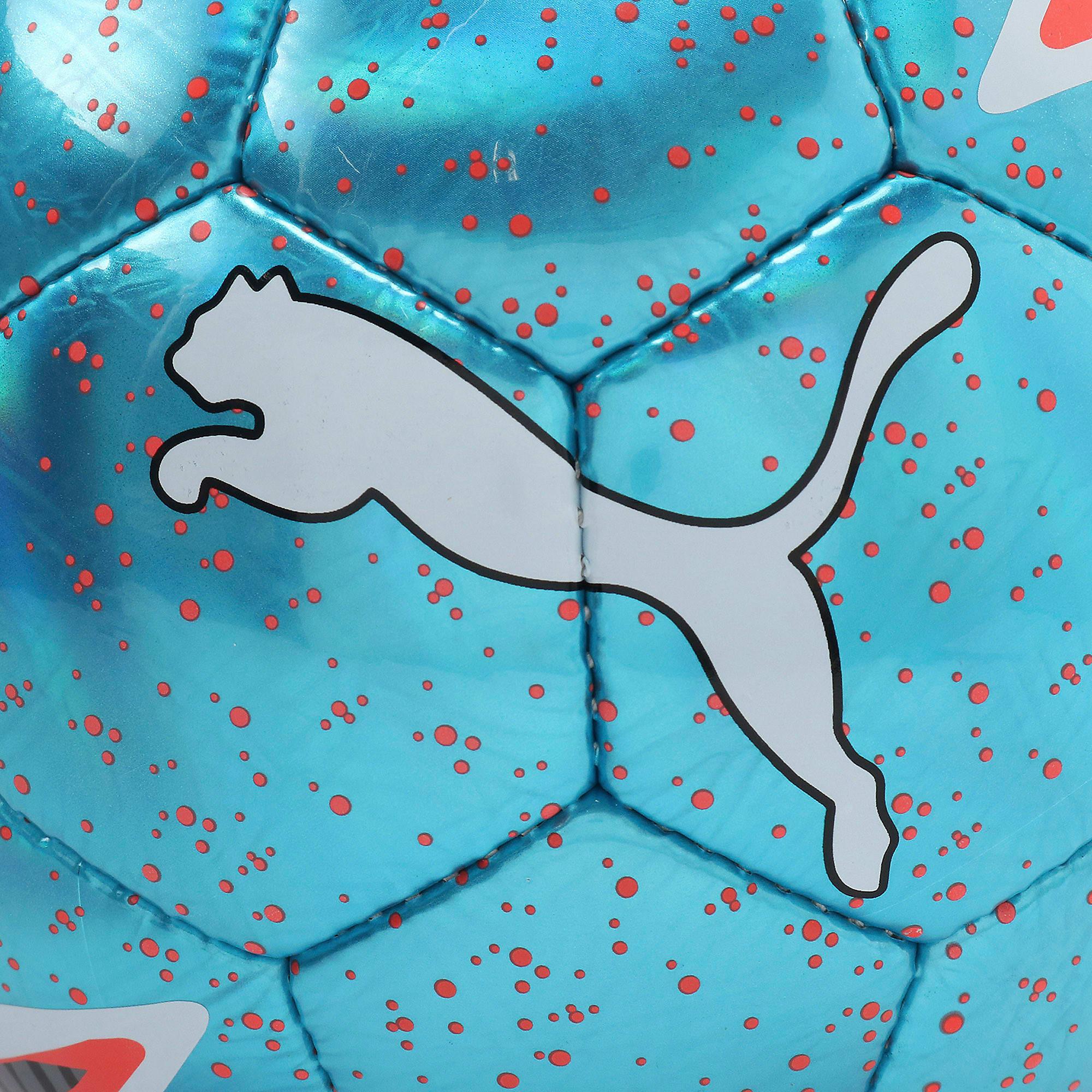 Thumbnail 4 of プーマ ワン レーザー サッカー ボール J, Bleu Azur-Red Blast-White, medium-JPN